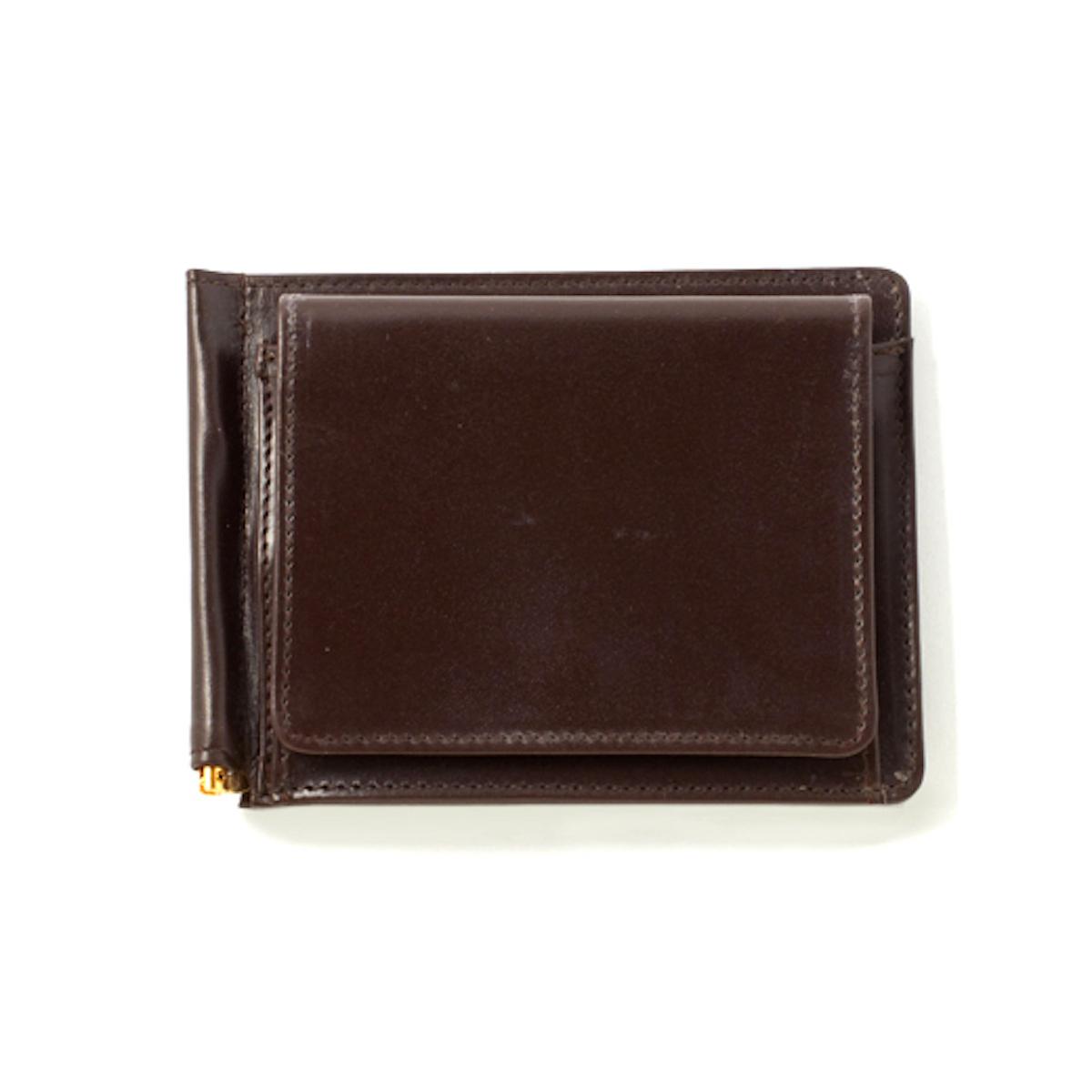 GLEN ROYAL / MONEY CLIP WITH COIN POCKET -CIGAR
