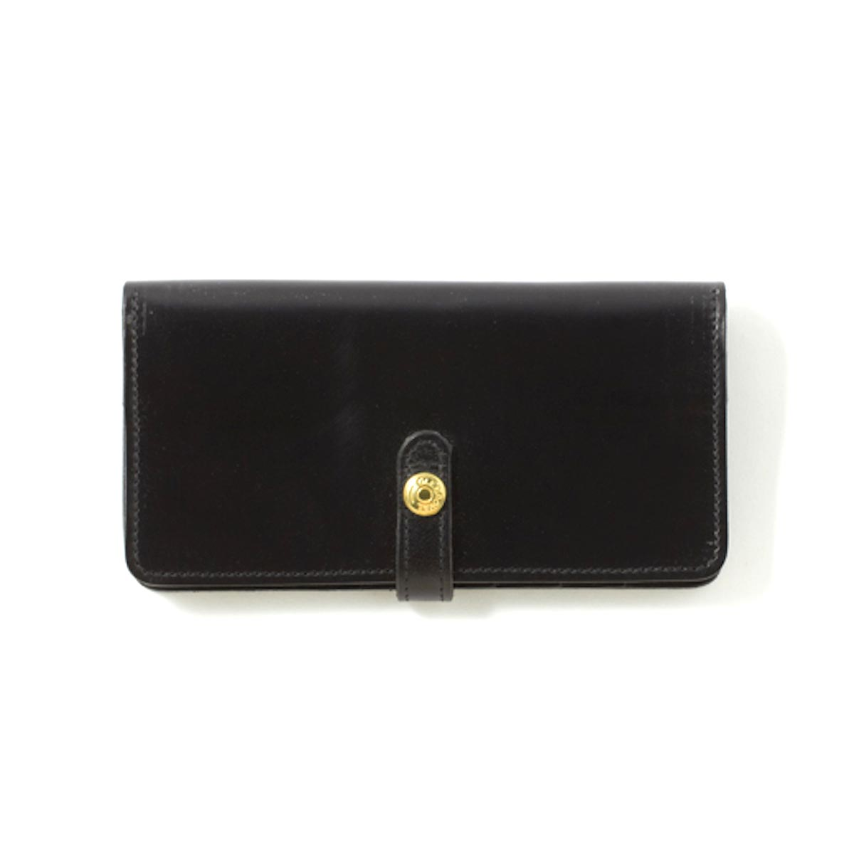 GLEN ROYAL / ROUND LONG PURSE -NEW BLACK