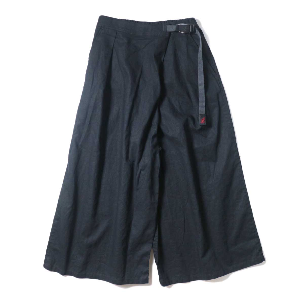 (Ladie's) GRAMICCI / LINEN WRAP FLARE PANTS (Black)