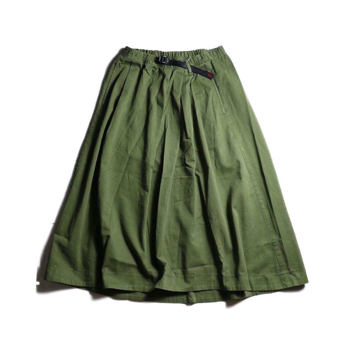 (Ladie's) GRAMICCI / Tale Cut Skirt (Olive)