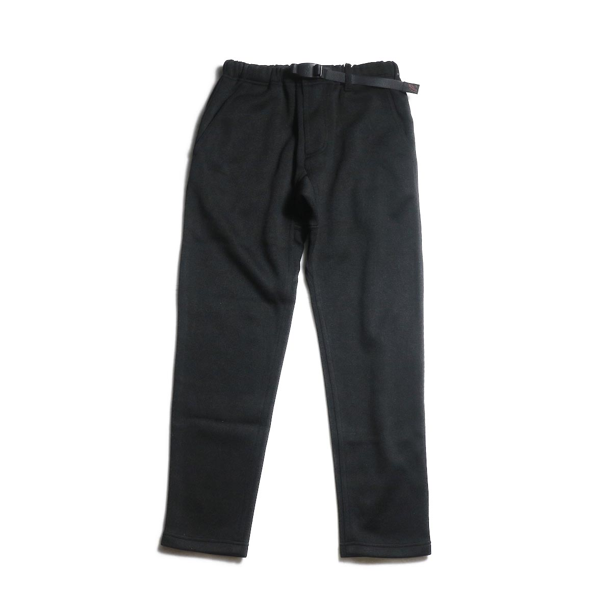GRAMICCI / BONDING KNIT FLEECE SLIM PANTS (Black × Black)