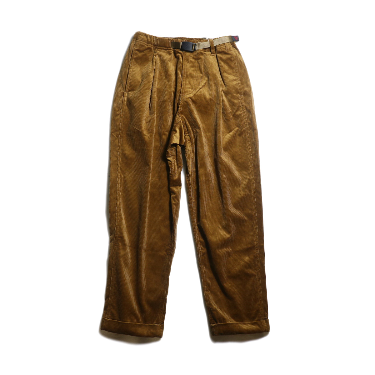 GRAMICCI / CORDUROY TUCK TAPERED PANTS (Camel)