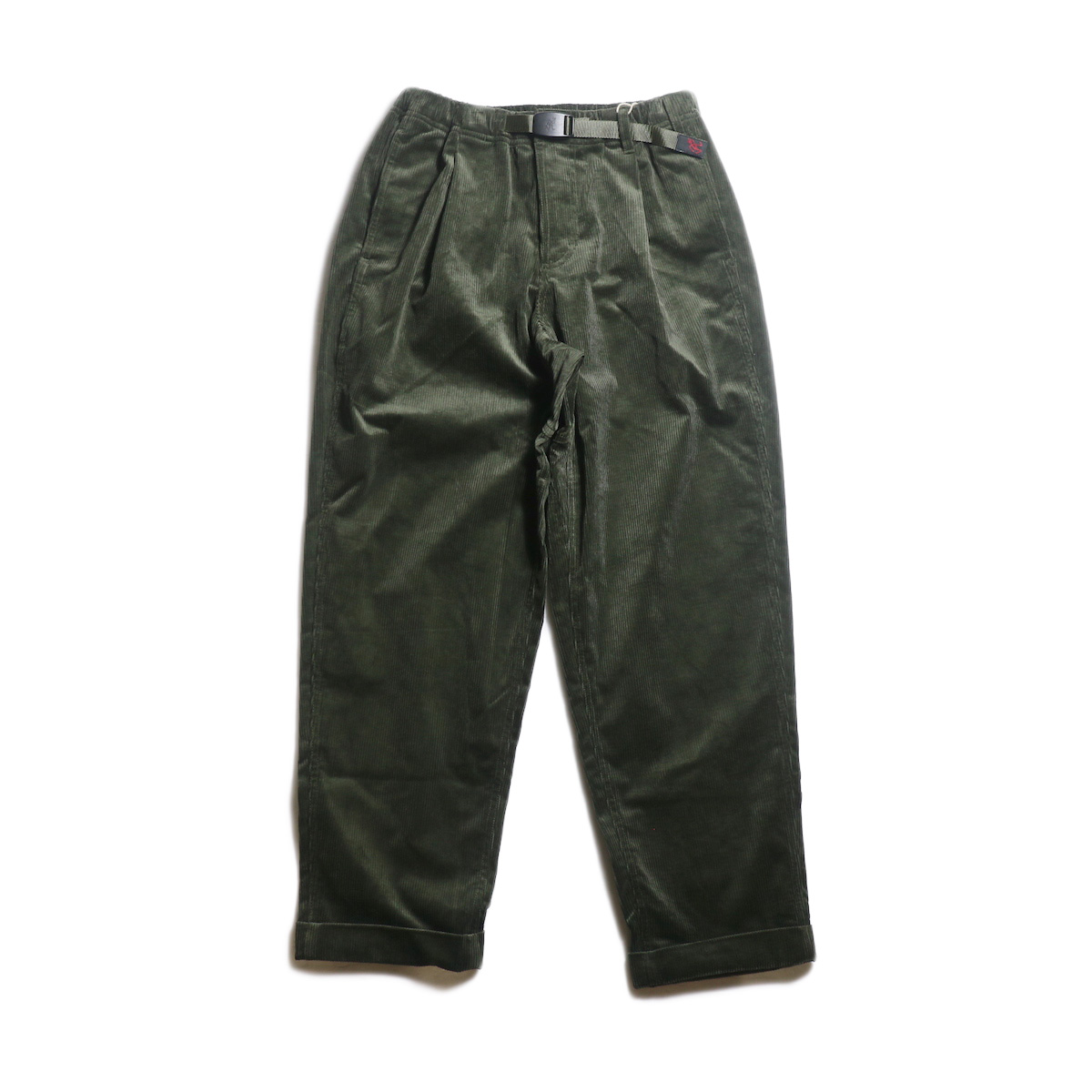 GRAMICCI / CORDUROY TUCK TAPERED PANTS (Olive)