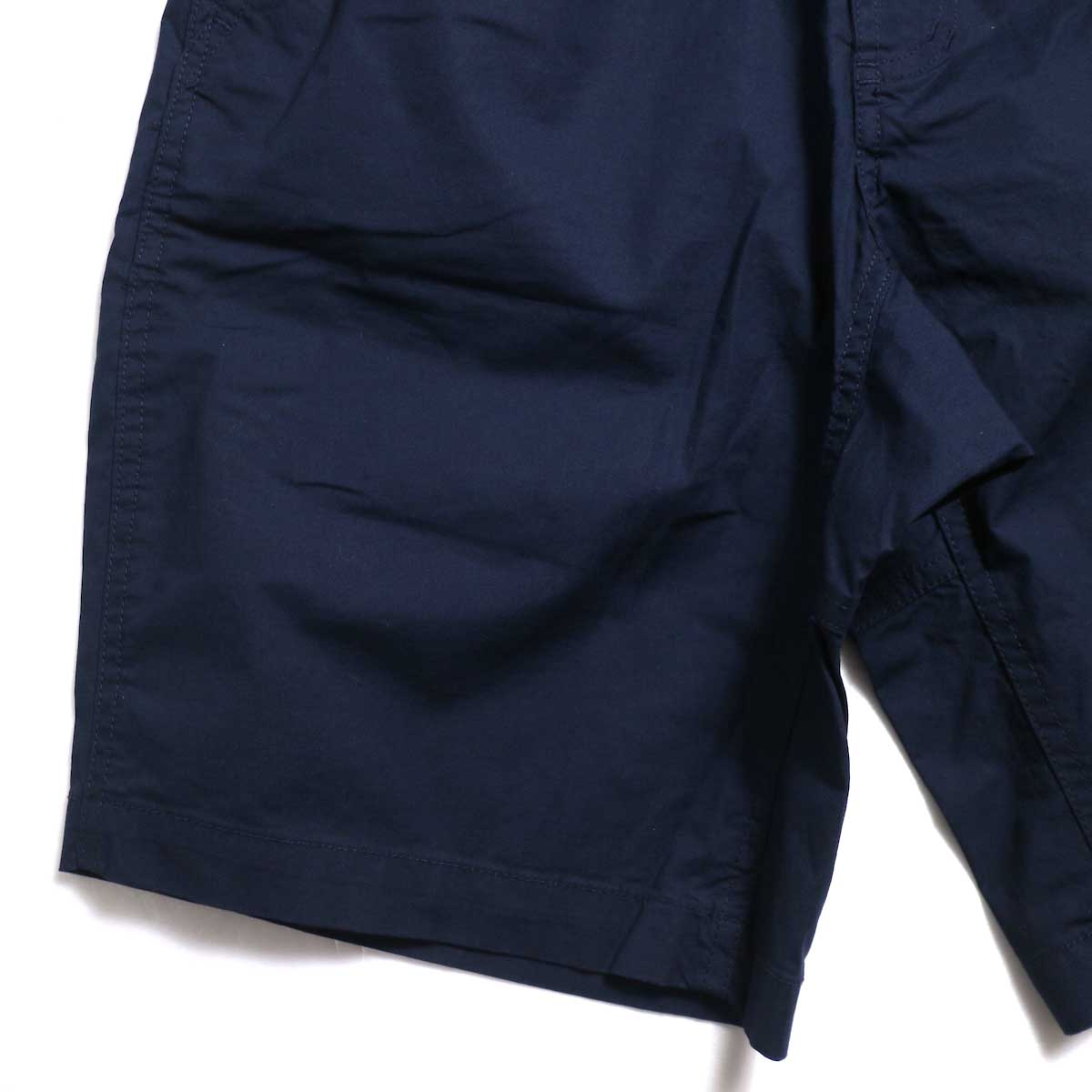 GRAMICCI / WEATHER ST-SHORTS -Double Navy ガゼットクロッチ