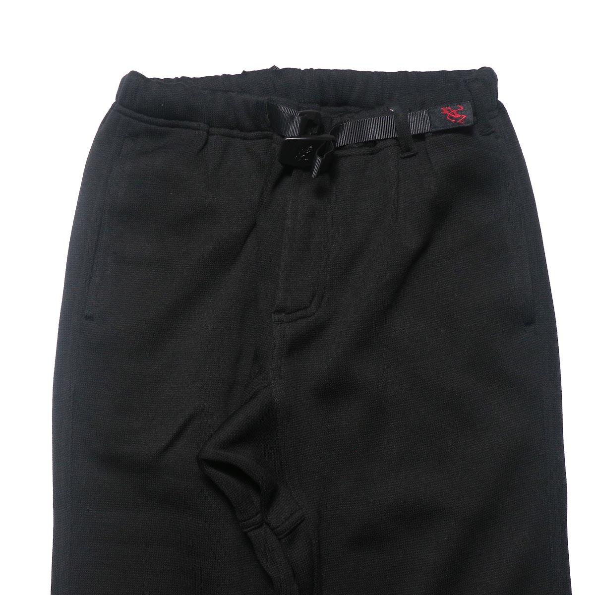GRAMICCI / BONDING KNIT FLEECE NN-PANTS JUST CUT (Black)ウエスト