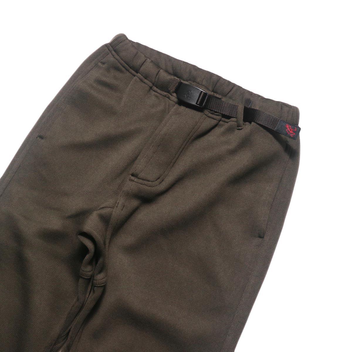 GRAMICCI / BONDING KNIT FLEECE NN-PANTS JUST CUT (Dark Brown)ウエスト