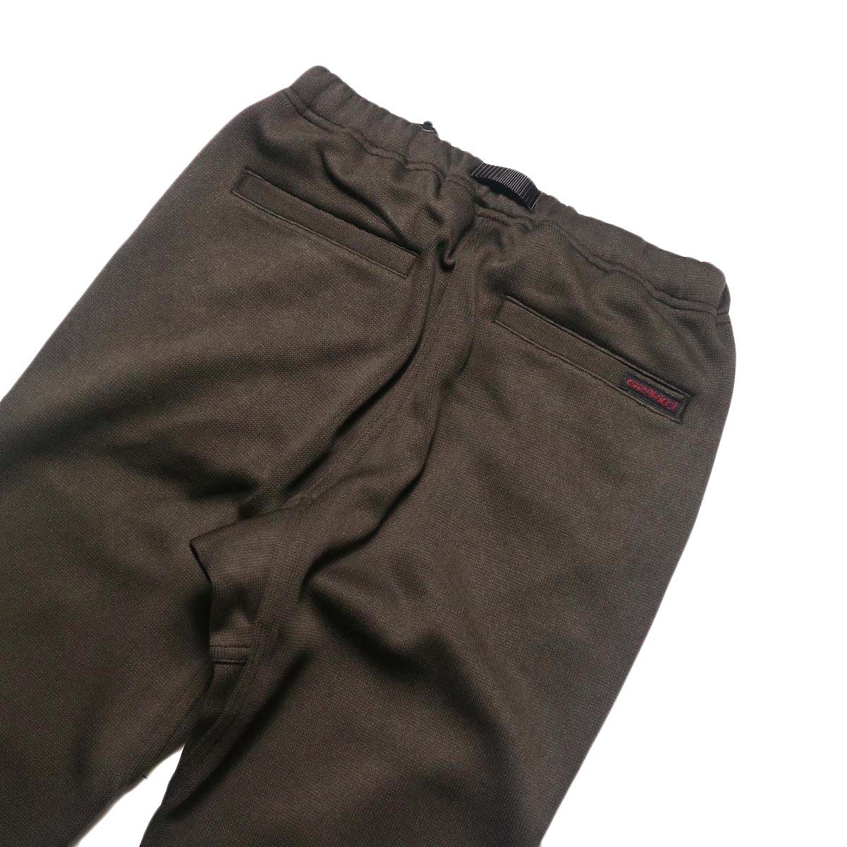 GRAMICCI / BONDING KNIT FLEECE NN-PANTS JUST CUT (Dark Brown)ヒップポケット