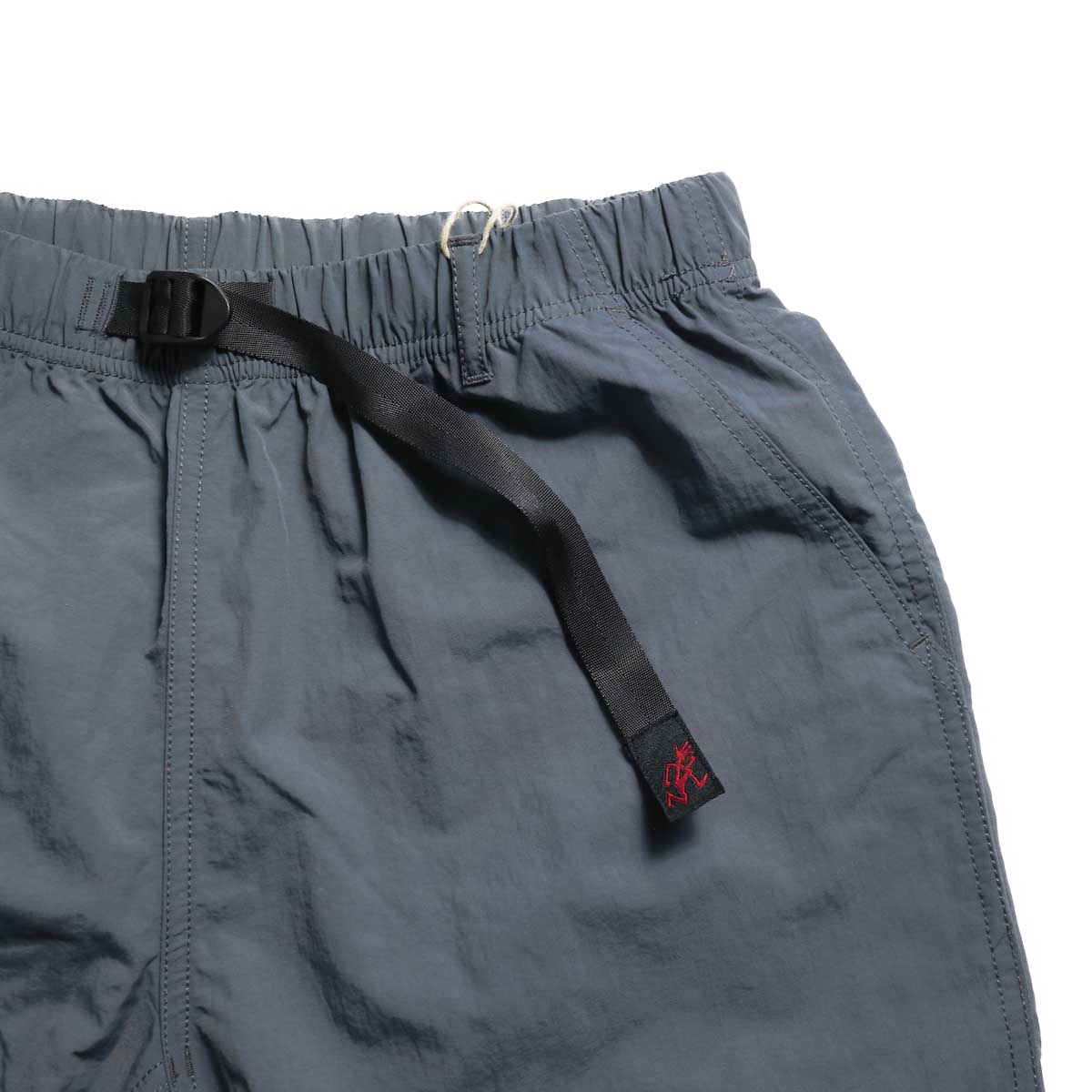 GRAMICCI / Shell Packable Shorts -Charcoal ウェビングベルト