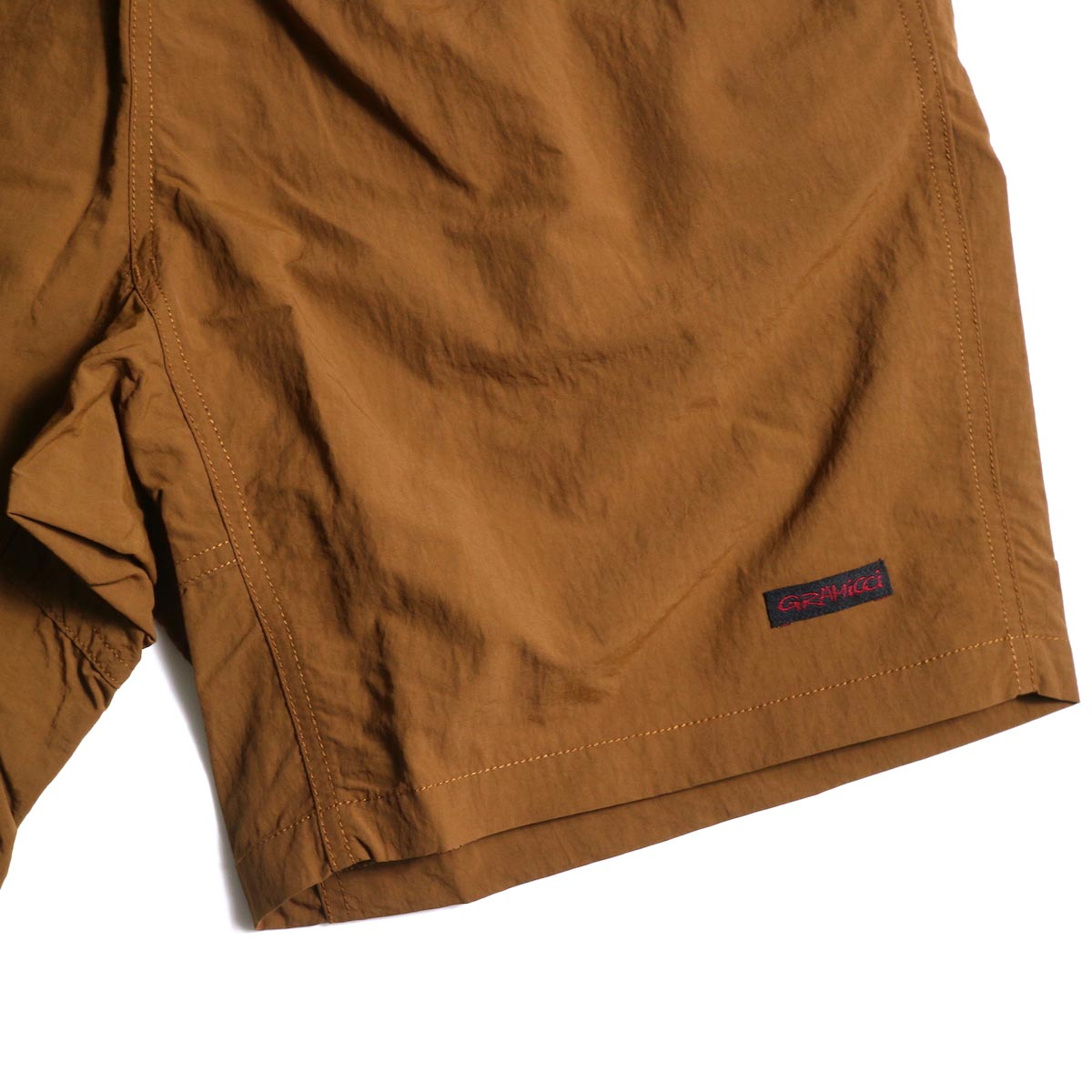 GRAMICCI / Shell Packable Shorts (Mocha)左裾ビスネーム