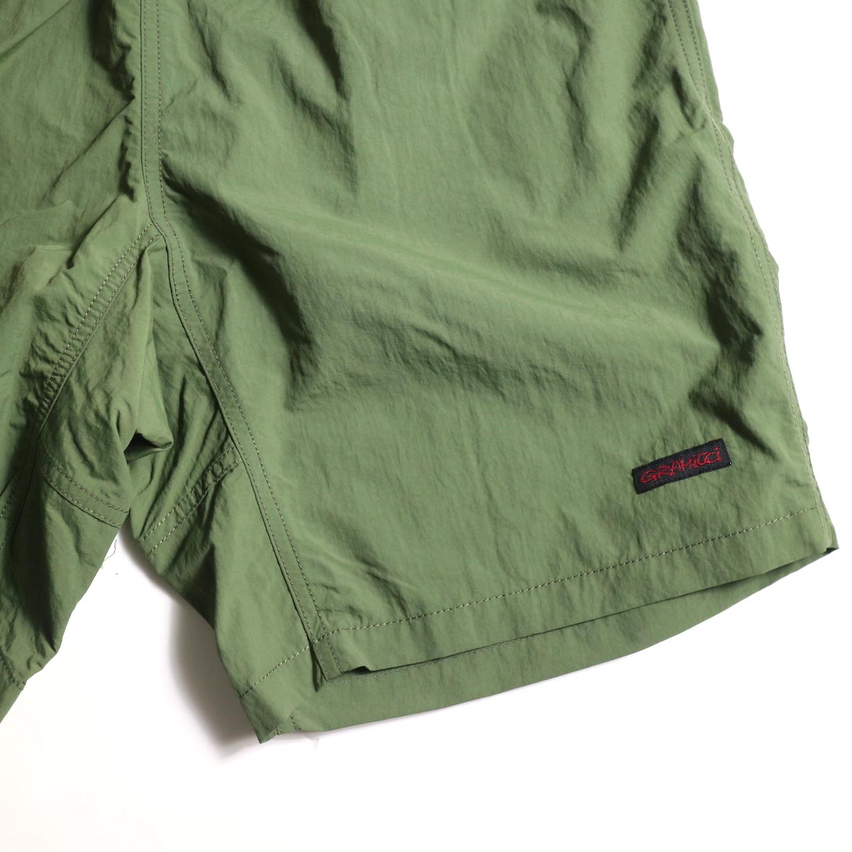 GRAMICCI / Shell Packable Shorts (Olive)左裾ビスネーム