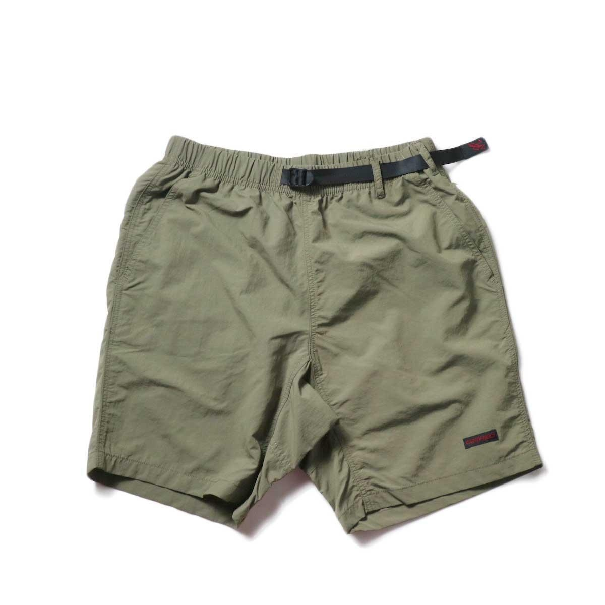 GRAMICCI / SHELL PACKABLE SHORTS (Ash Olive)正面