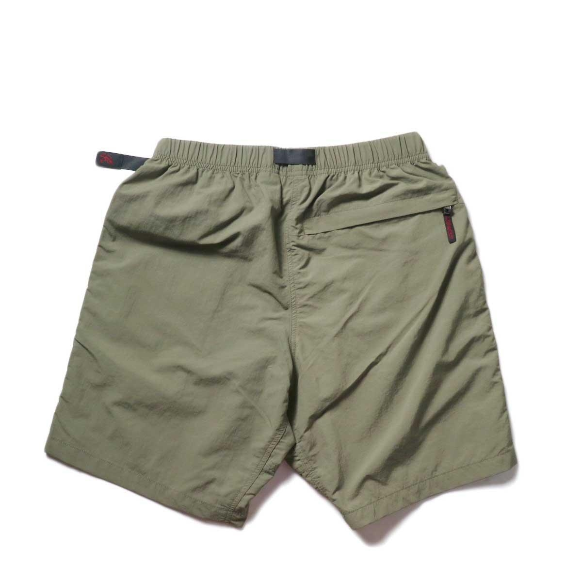 GRAMICCI / SHELL PACKABLE SHORTS (Ash Olive)背面
