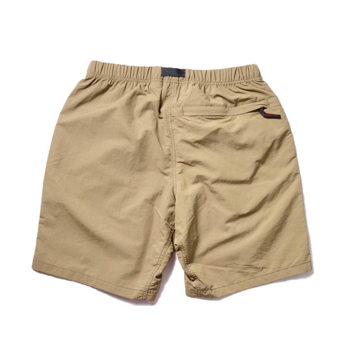 GRAMICCI / SHELL PACKABLE SHORTS (Tan)背面