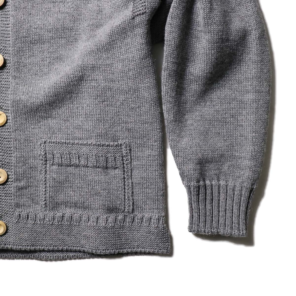 Guernsey Woollens / Bouet (Md Grey)袖、裾
