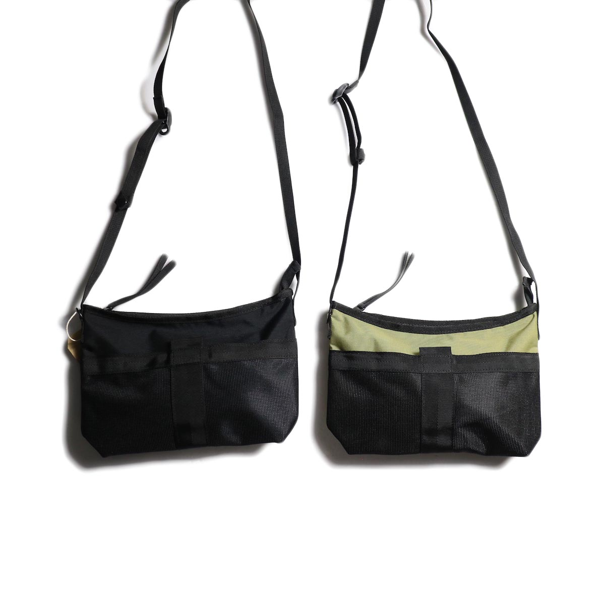 HOBO / Polyester Canvas Sacoche (BLACK/BEIGE)