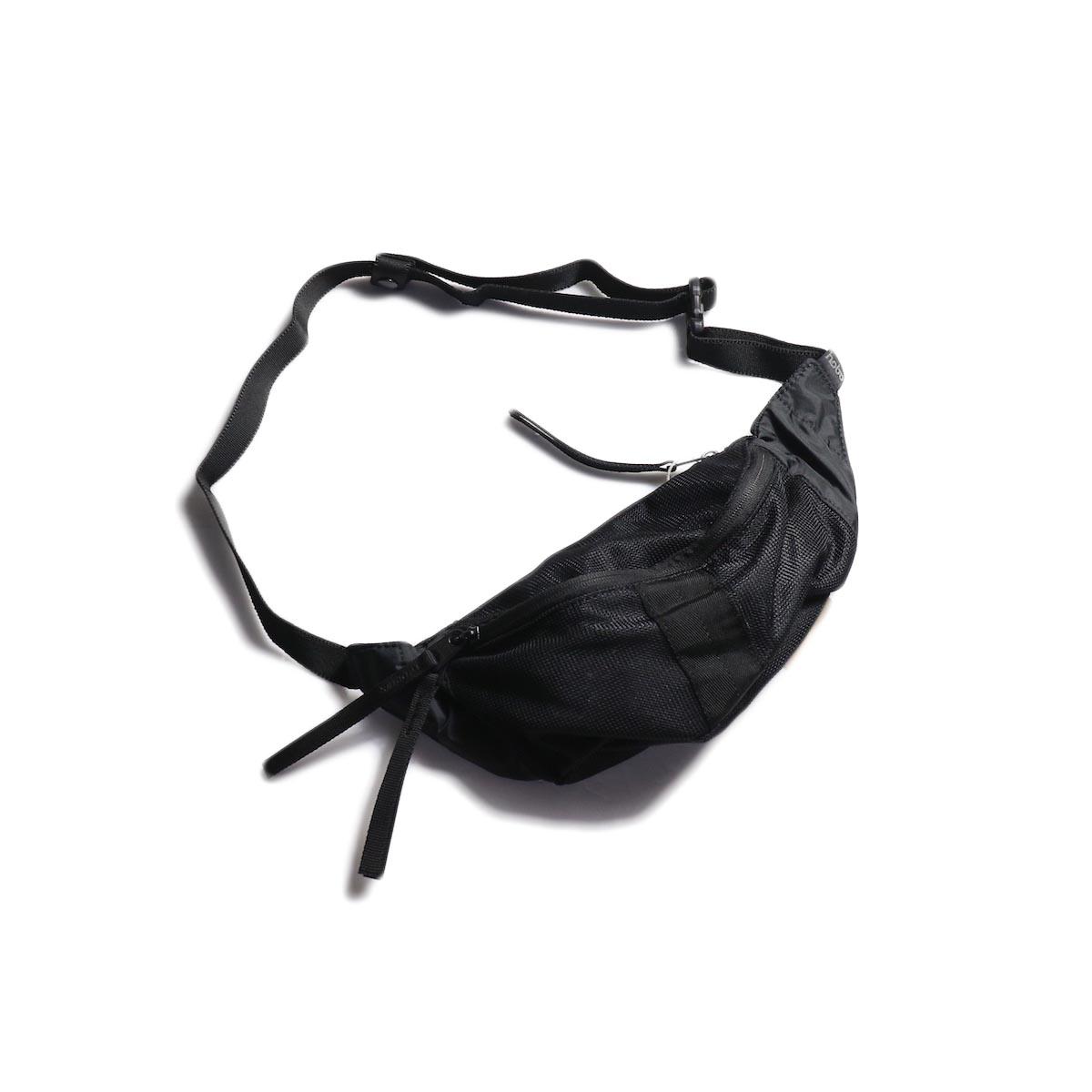 HOBO / Polyester Mesh Waist Bag -Black