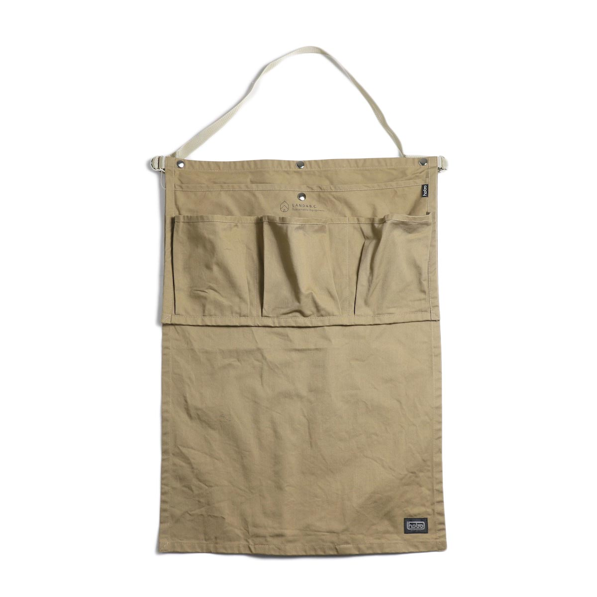 HOBO / Cotton Twill Gardener Apron by LAND & B.C. -beige