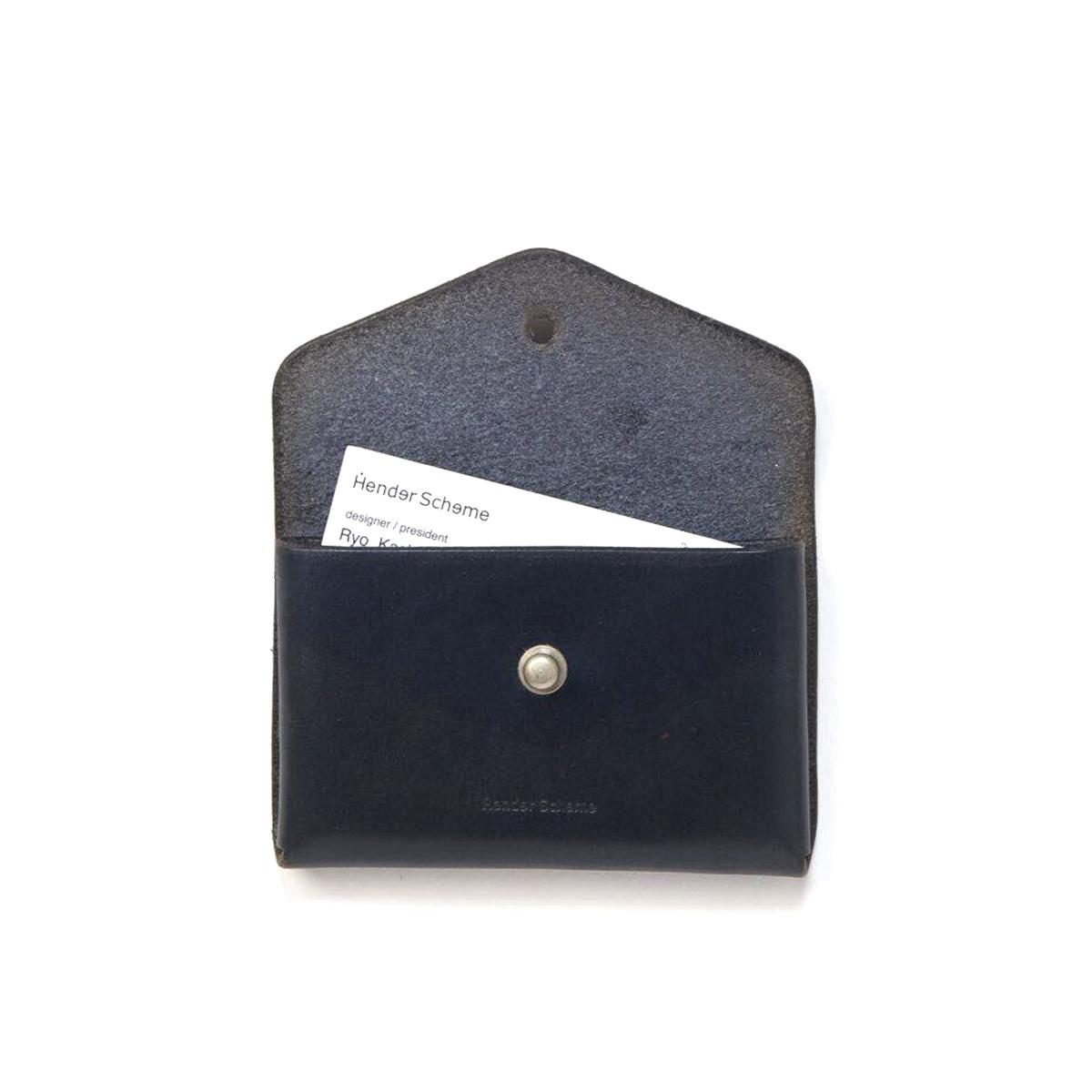 Hender Scheme / one piece card case -Black