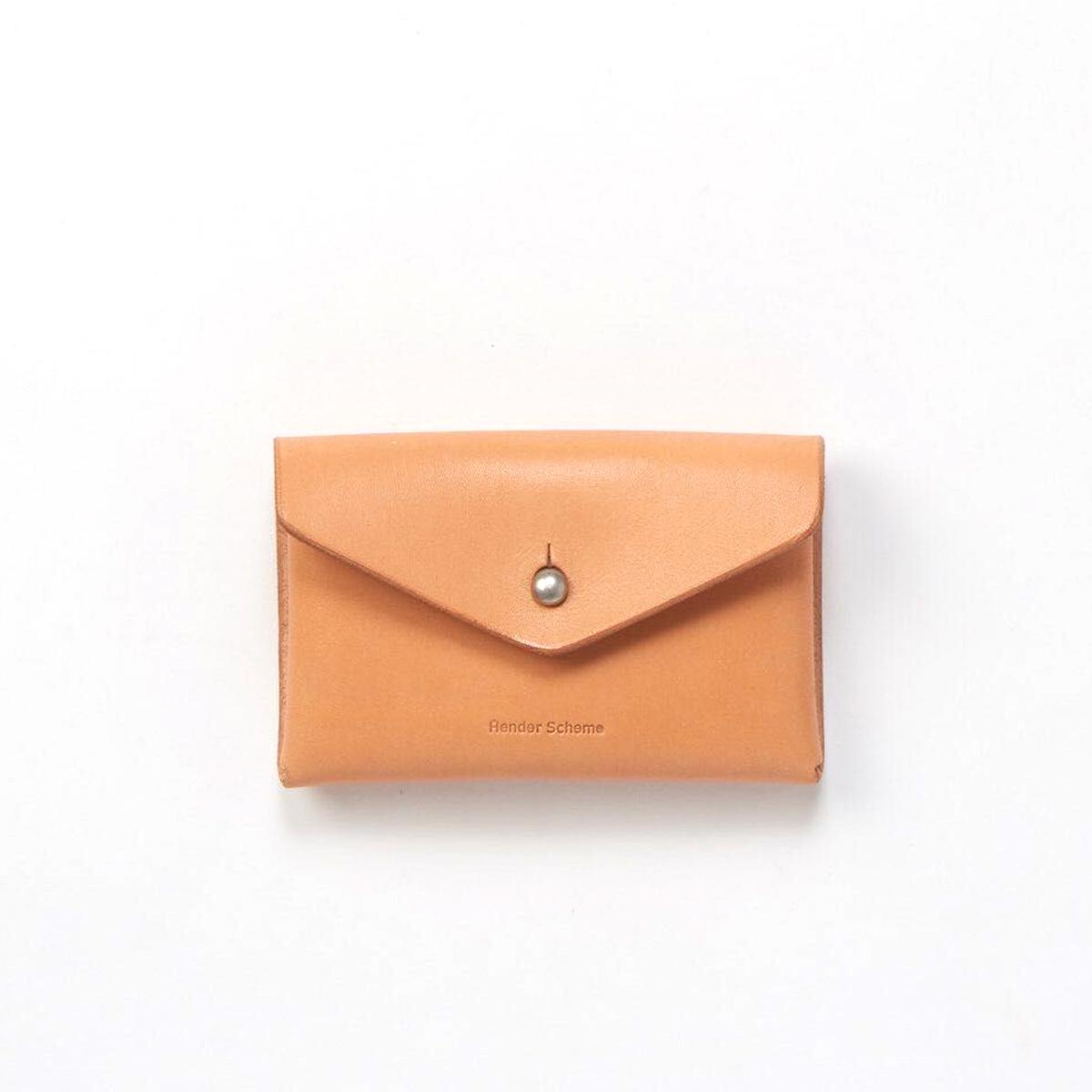 Hender Scheme / one piece card case -Natural