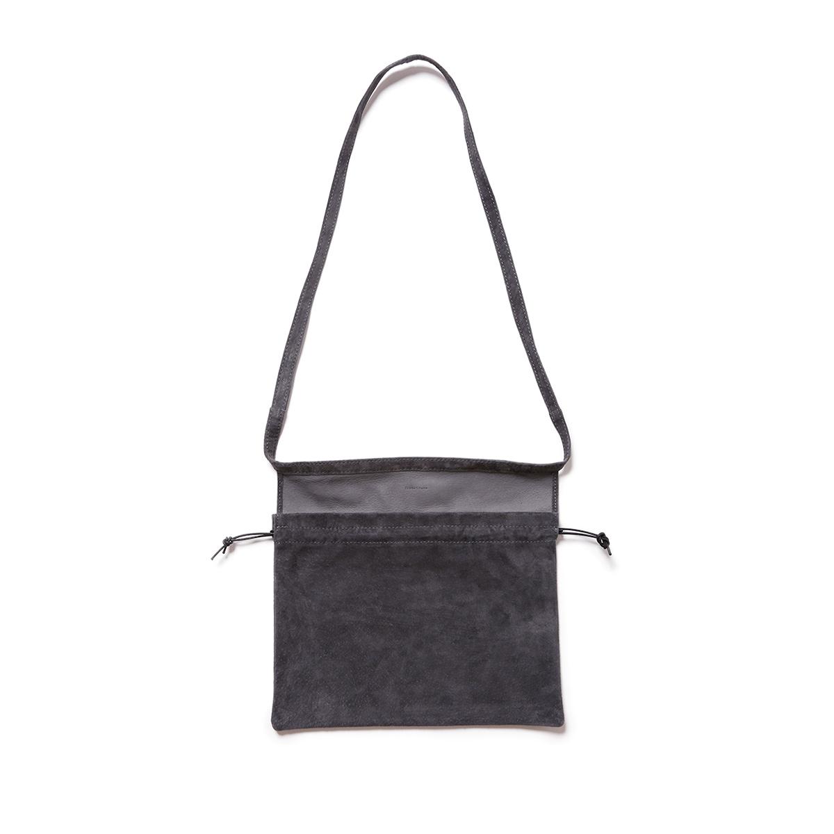 Hender Scheme / red cross bag small -Dark Gray
