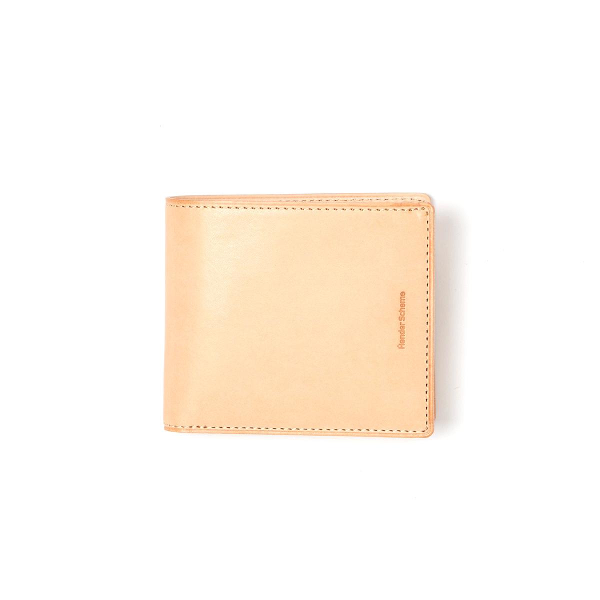 Hender Scheme / half folded wallet -Natural