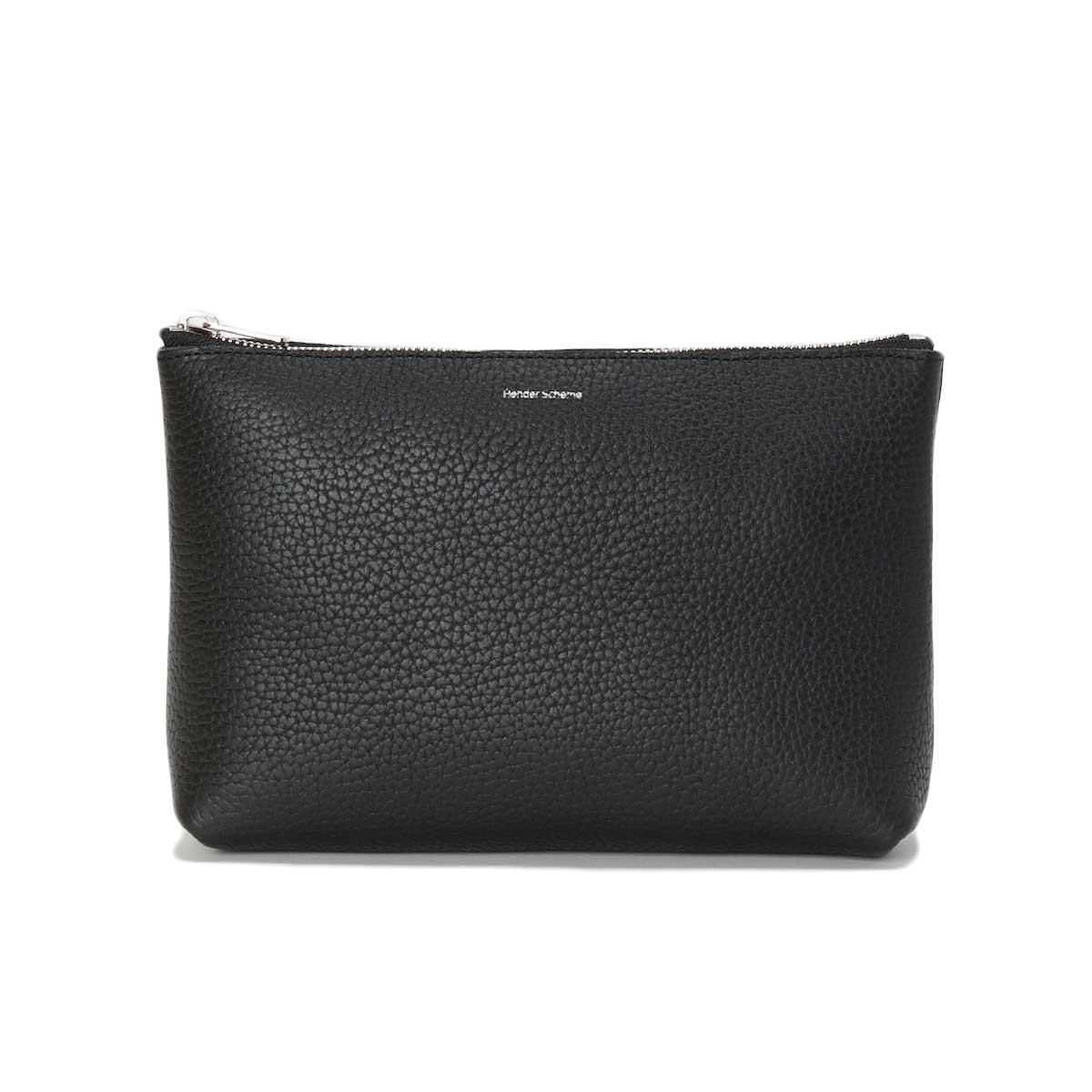 Hender Scheme / pouch M (Black) 正面