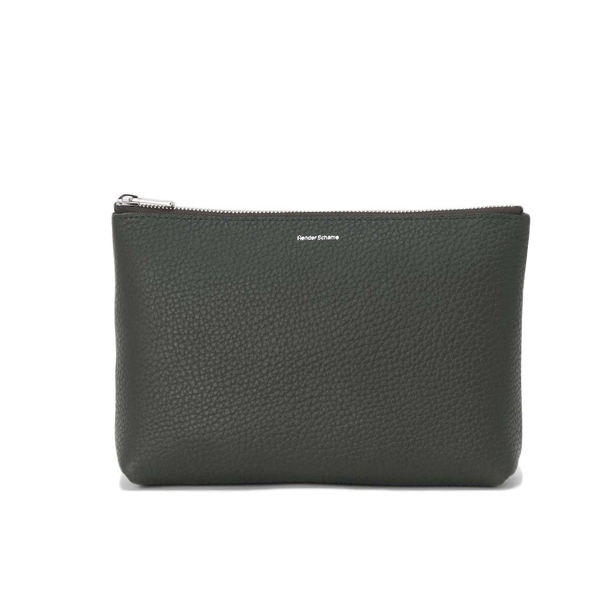 Hender Scheme / pouch M (Dark Green) 正面