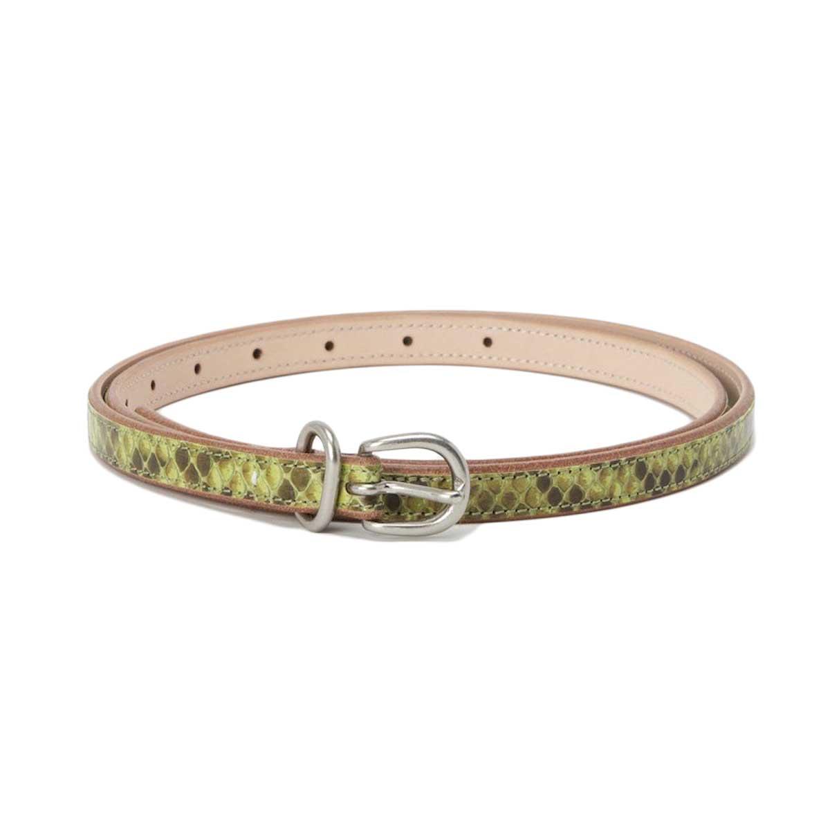 Hender Scheme / python tail belt・Pistachio