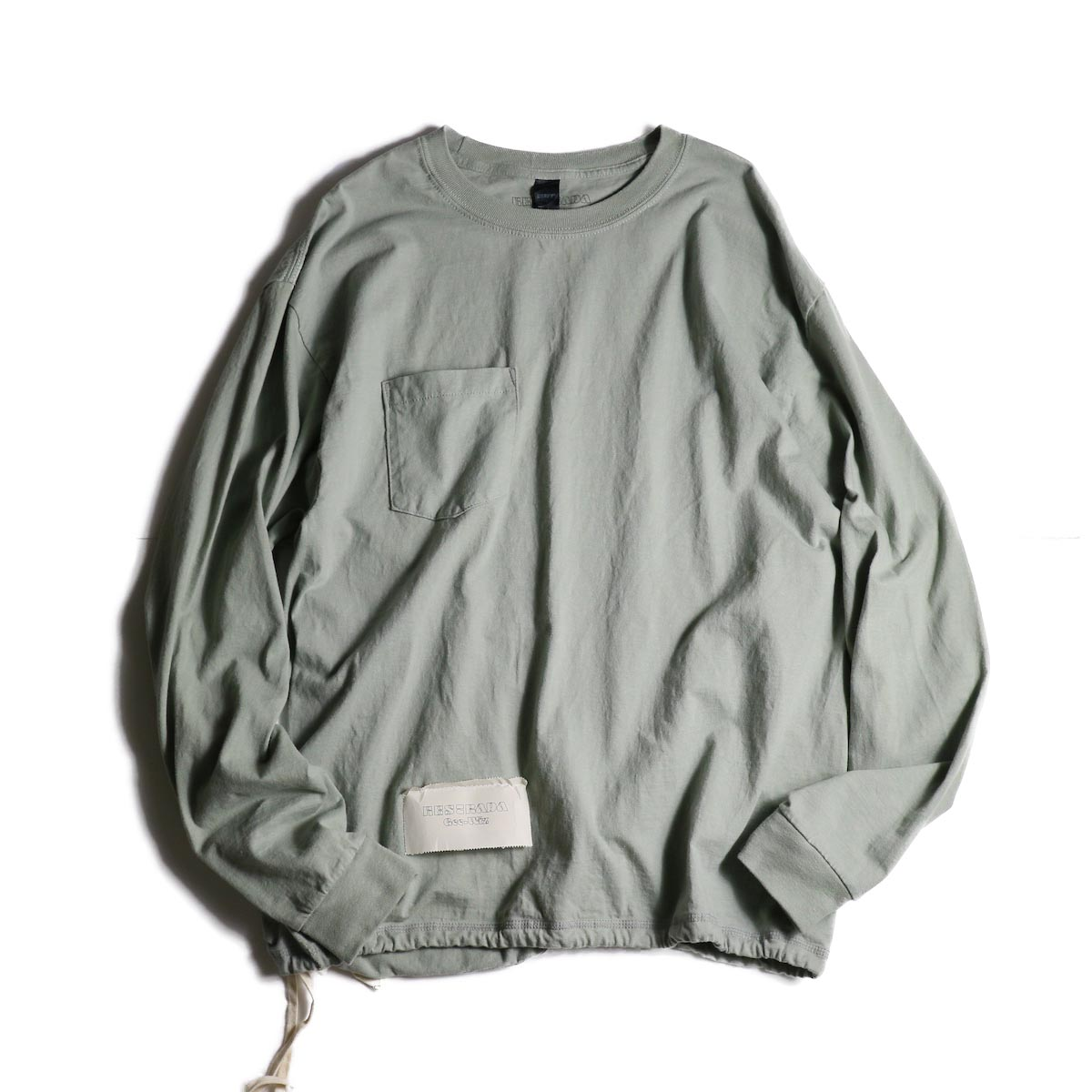 HESTRADA GEE-WIZ / SWITCH L/S Tee (Stone Green)正面