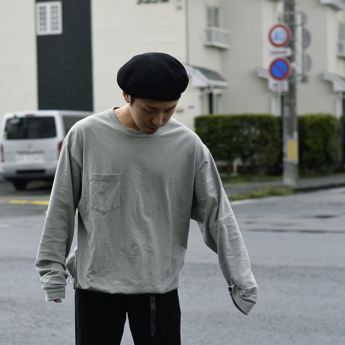 HESTRADA GEE-WIZ / SWITCH L/S Tee (Stone Green)162cm XL、StoneGreen着用