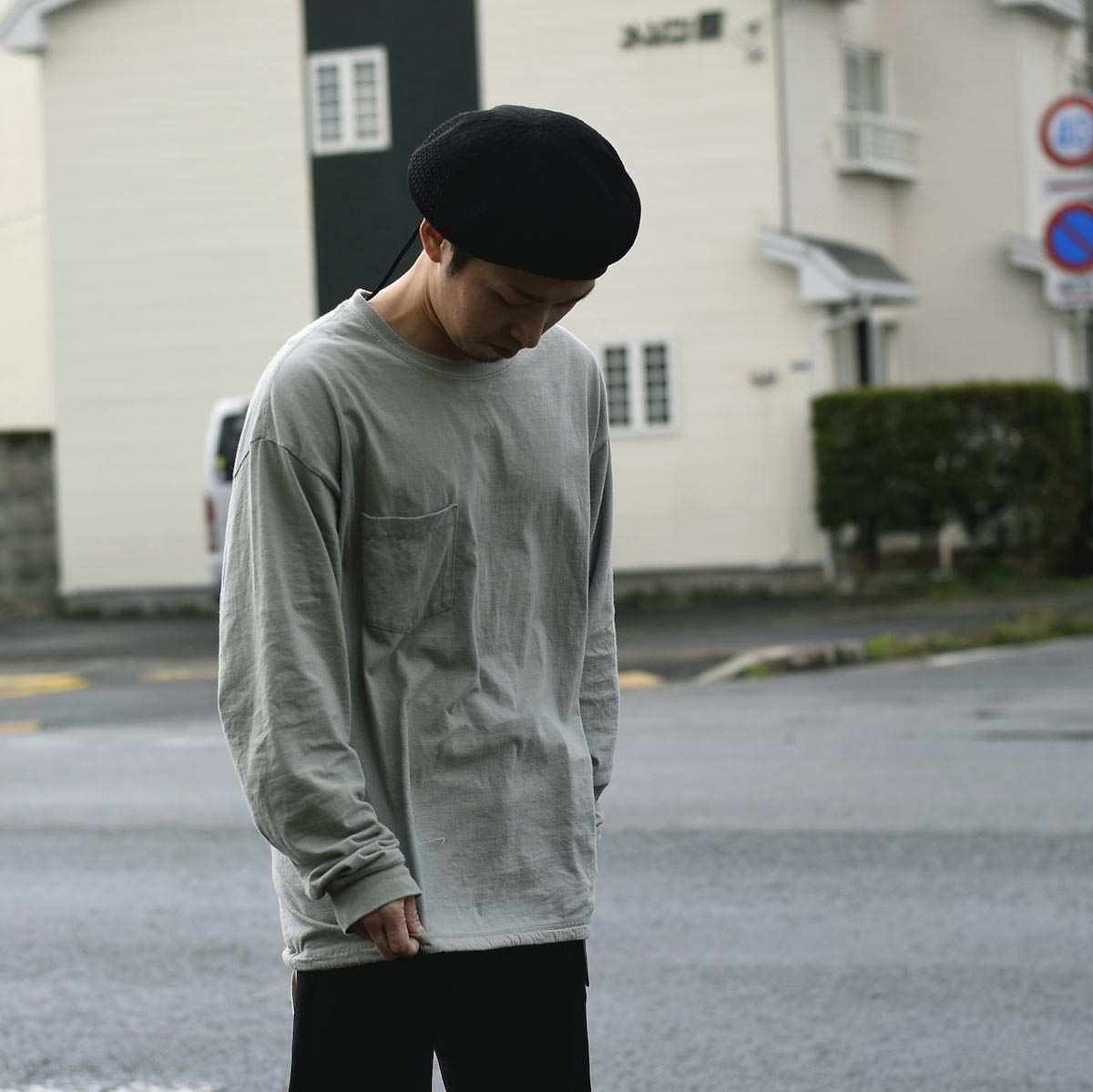 HESTRADA GEE-WIZ / SWITCH L/S Tee (Stone Green)162cm XL、StoneGreen着用②