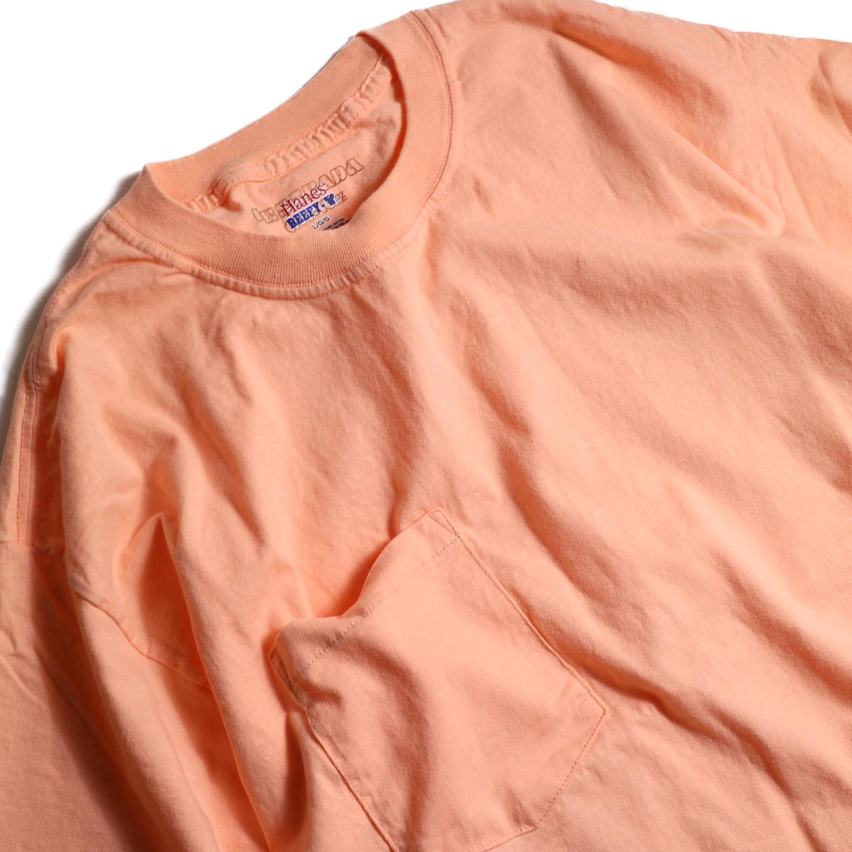 HESTRADA GEE-WIZ / SWITCH S/S Tee (Candy Orange)首周り
