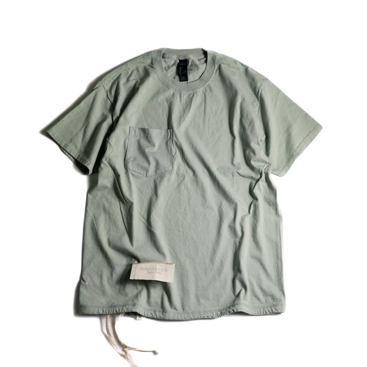 HESTRADA GEE-WIZ / SWITCH S/S Tee (Stone Green)正面