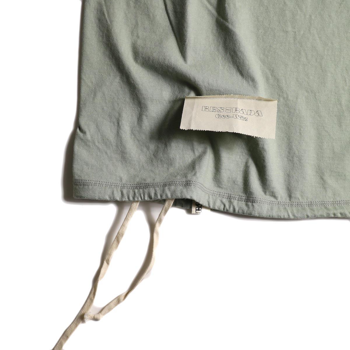 HESTRADA GEE-WIZ / SWITCH S/S Tee (Stone Green)裾、紙タグ