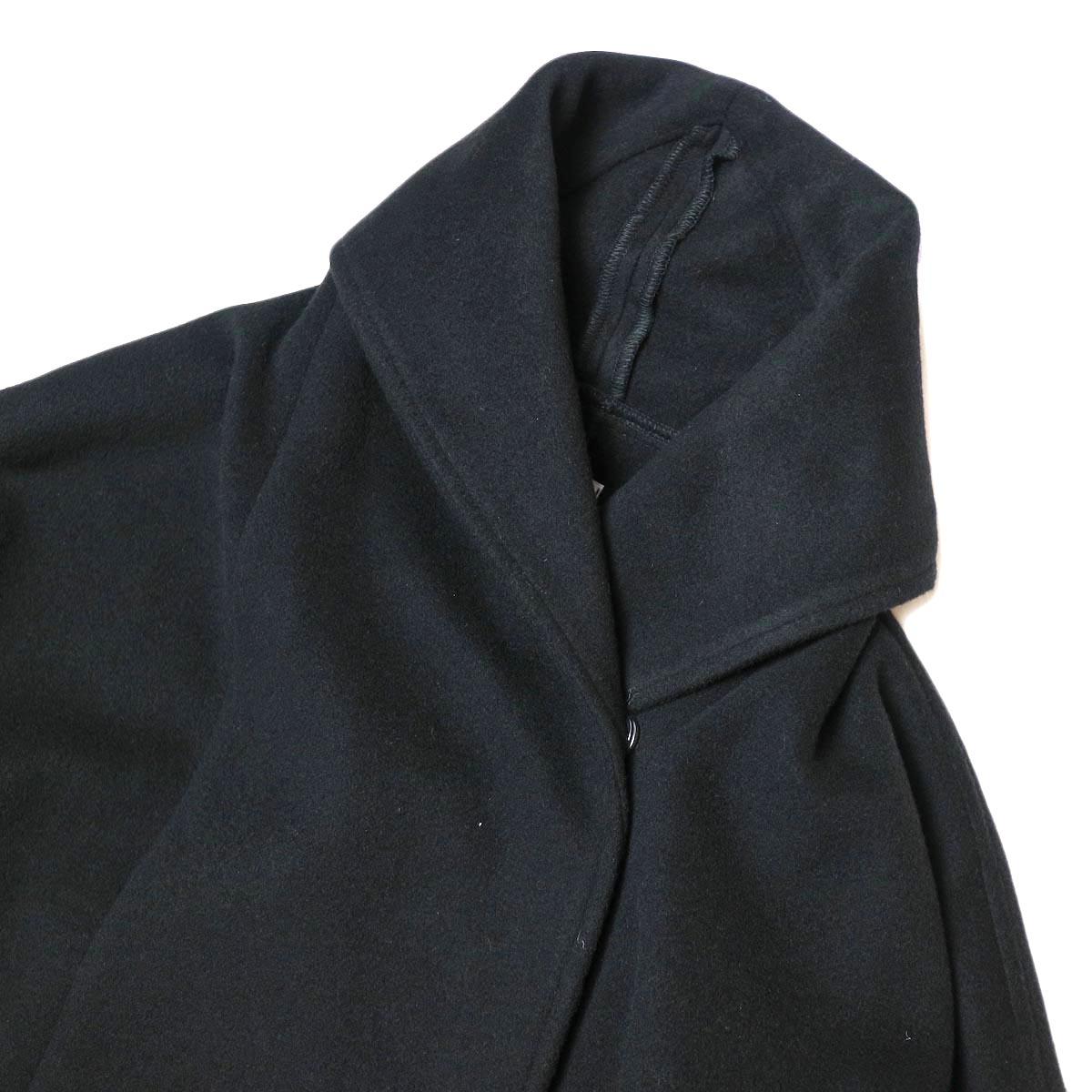 Honnete / Shawl Collar Wide Coat (Black) 襟