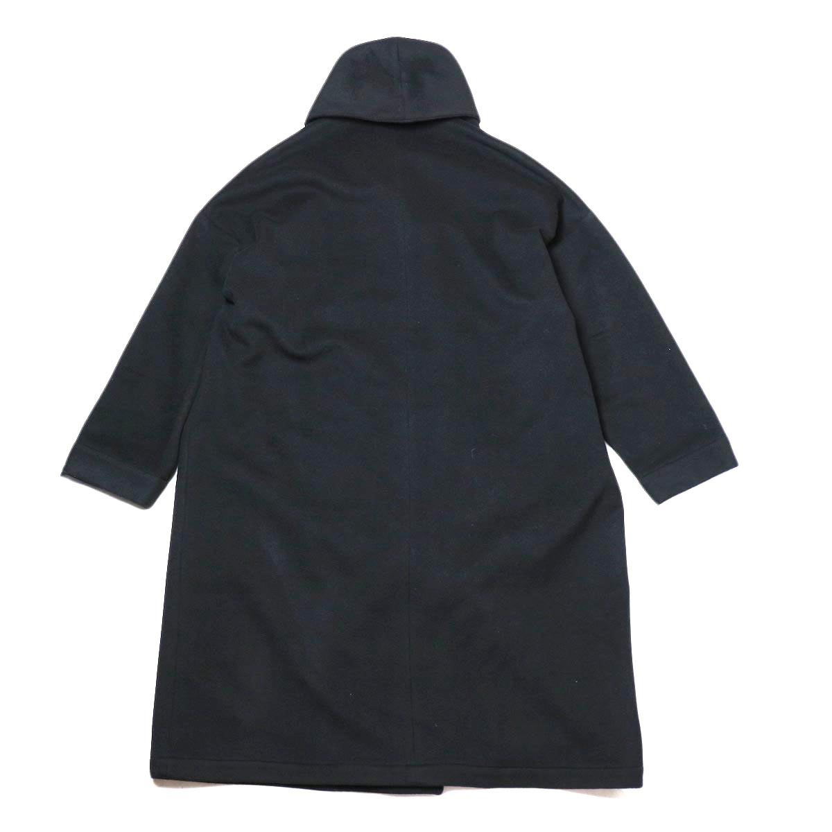 Honnete / Shawl Collar Wide Coat (Black) 背面