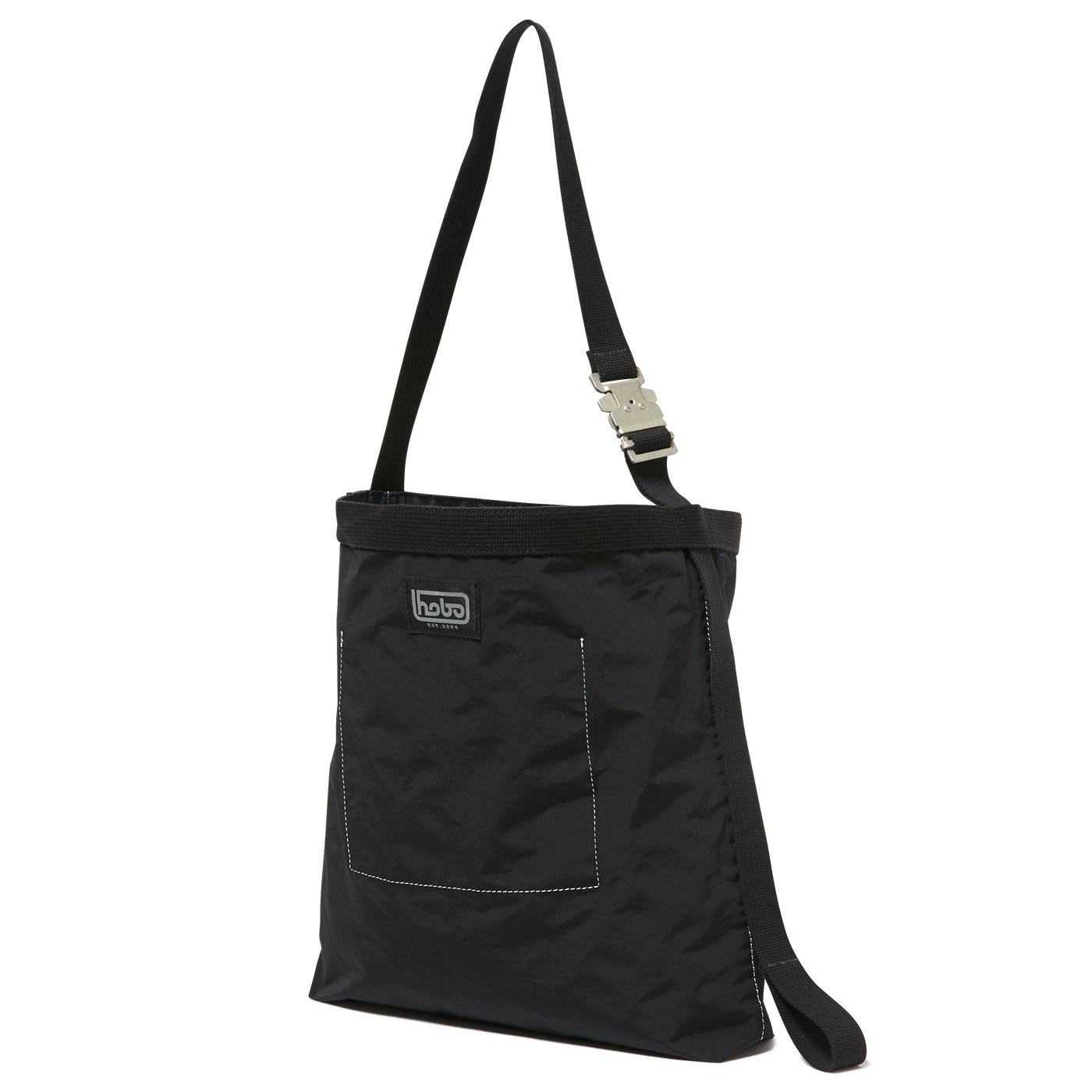 HOBO / Cotton Nylon Grosgrain Shoulder Bag -black
