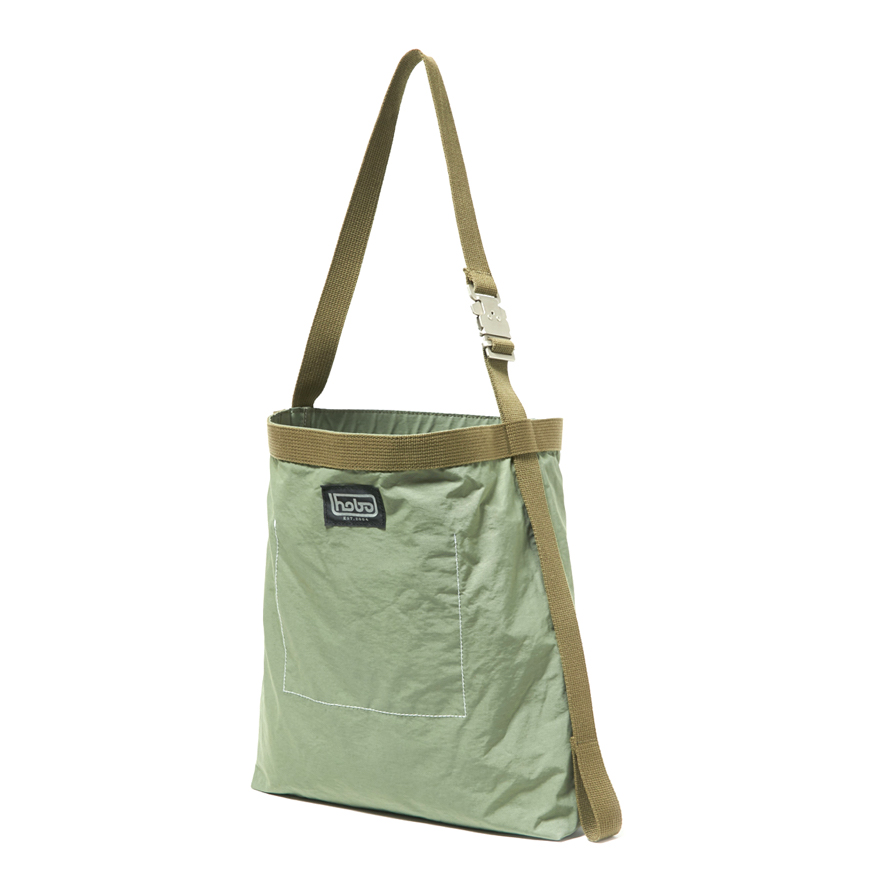 HOBO / Cotton Nylon Grosgrain Shoulder Bag -olive