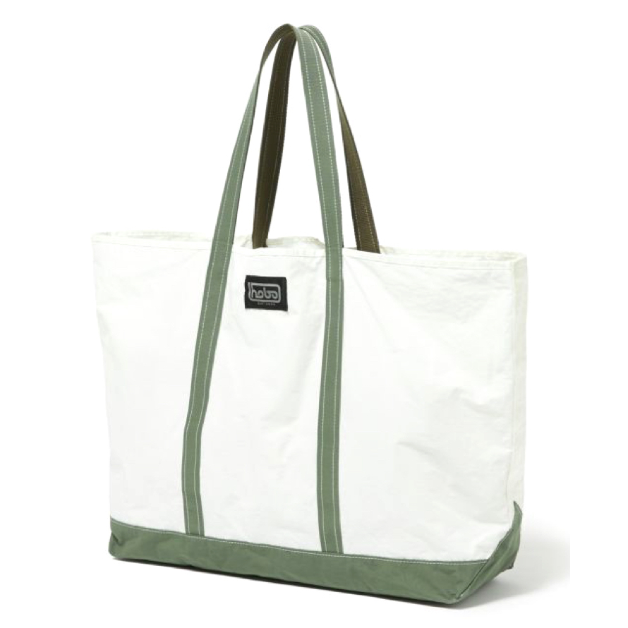 HOBO / Cotton Nylon Grosgrain Tote Bag M -olive