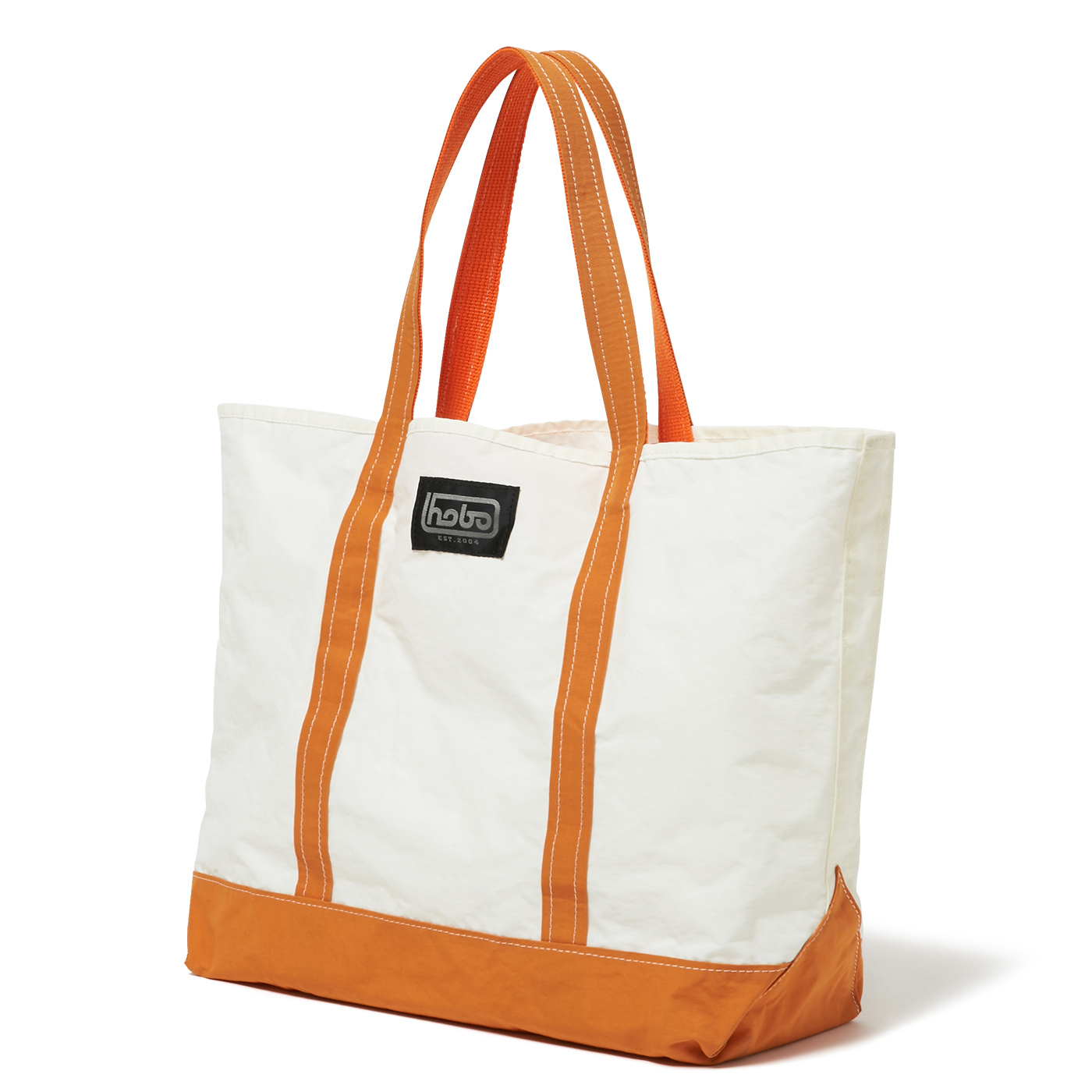 HOBO / Cotton Nylon Grosgrain Tote Bag M -orange