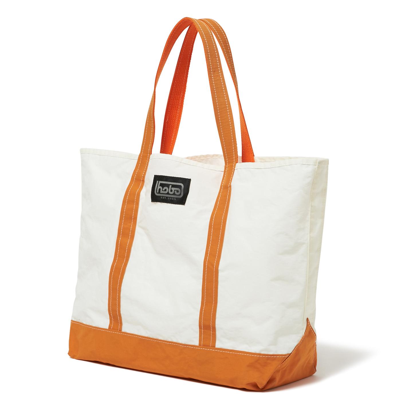 HOBO / Cotton Nylon Grosgrain Tote Bag M -orange