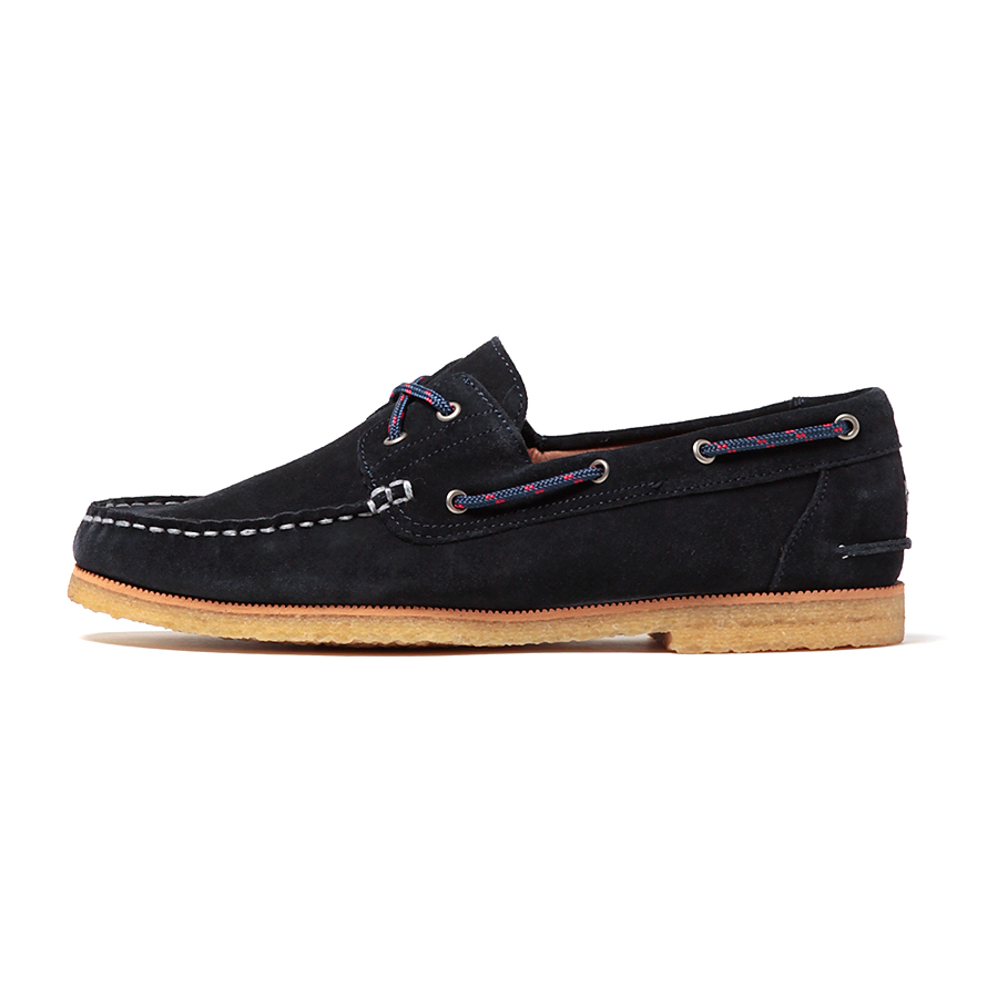 hobo / COW LEATHER DECK SHOES WITH NYLON CORD -navy
