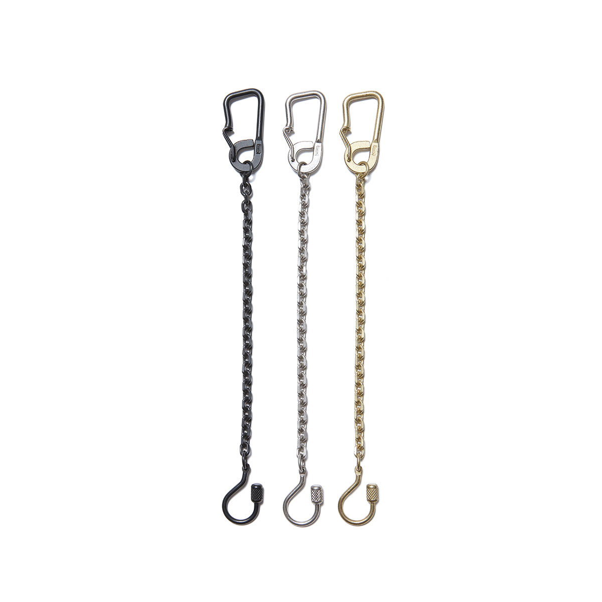 HOBO / BRASS CARABINER KEY RING with CHAIN