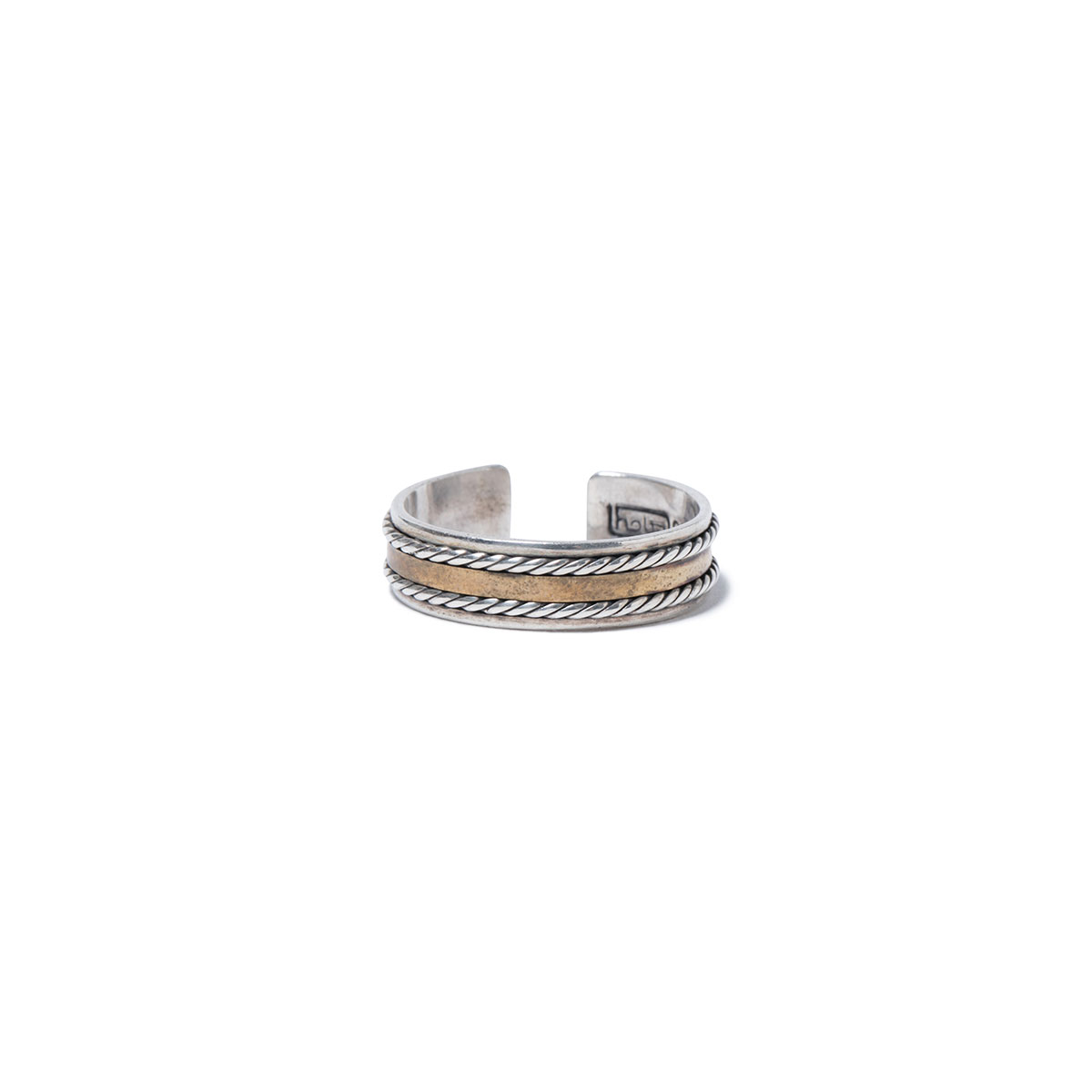 HOBO / 925 SILVER RING with BRASS
