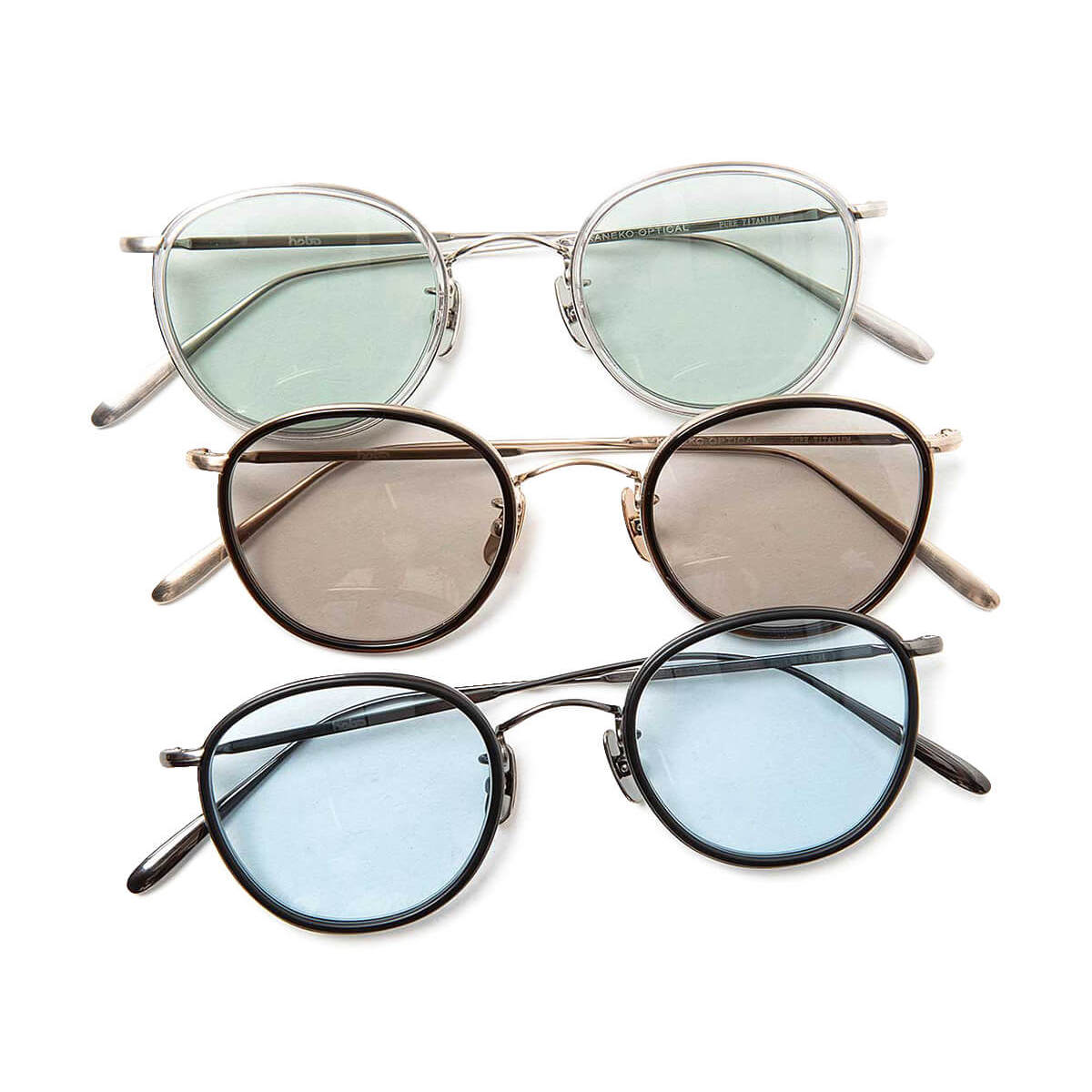 HOBO / ROUND FRAME TITANIUM GLASSES by KANEKO OPTICAL