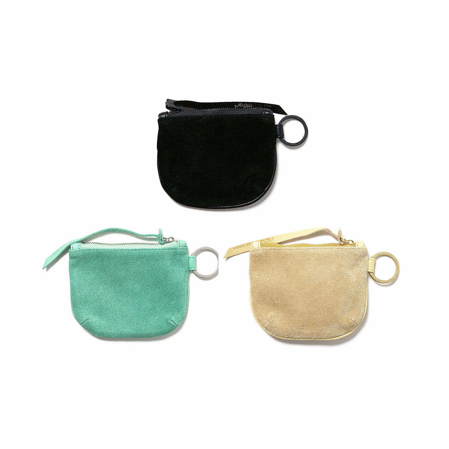 HOBO / COW LEATHER ROUND POUCH S (Black , Mint , Beige)