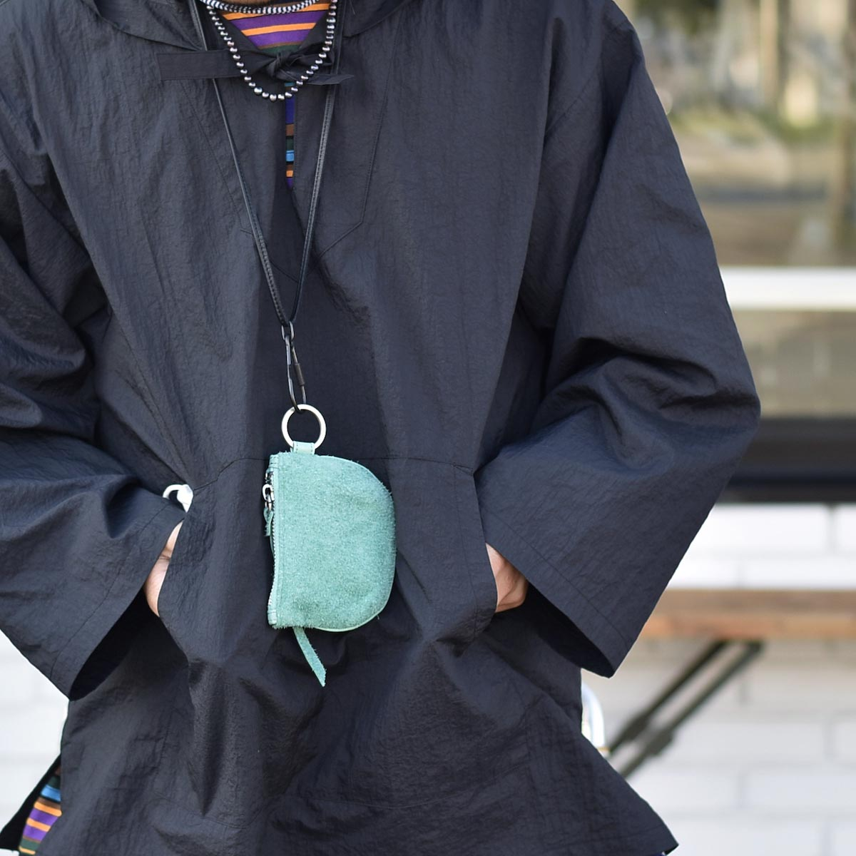 HOBO / COW LEATHER CORD KEY RING (Black)イメージ2
