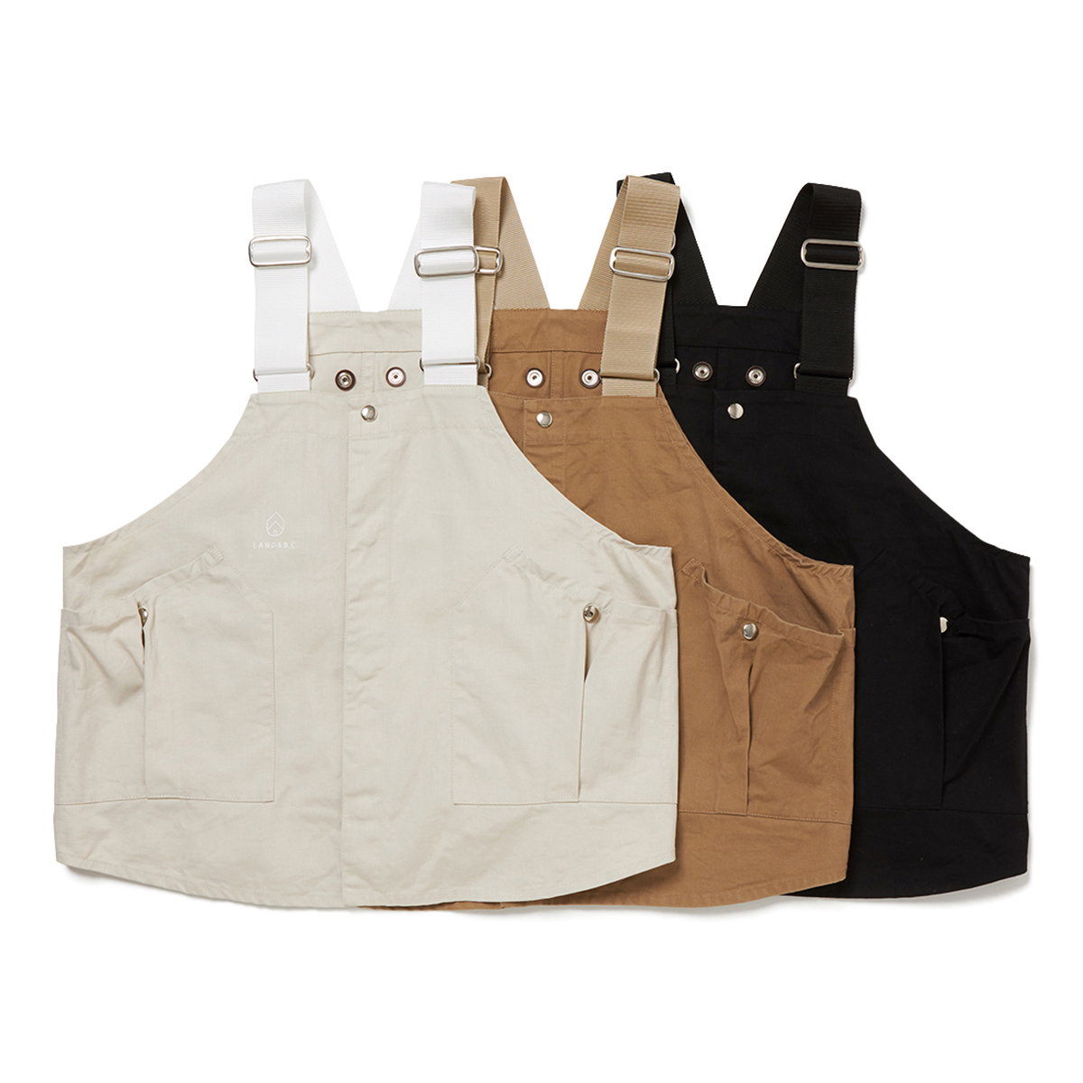 HOBO / COTTON TWILL VEST by LAND & B.C.