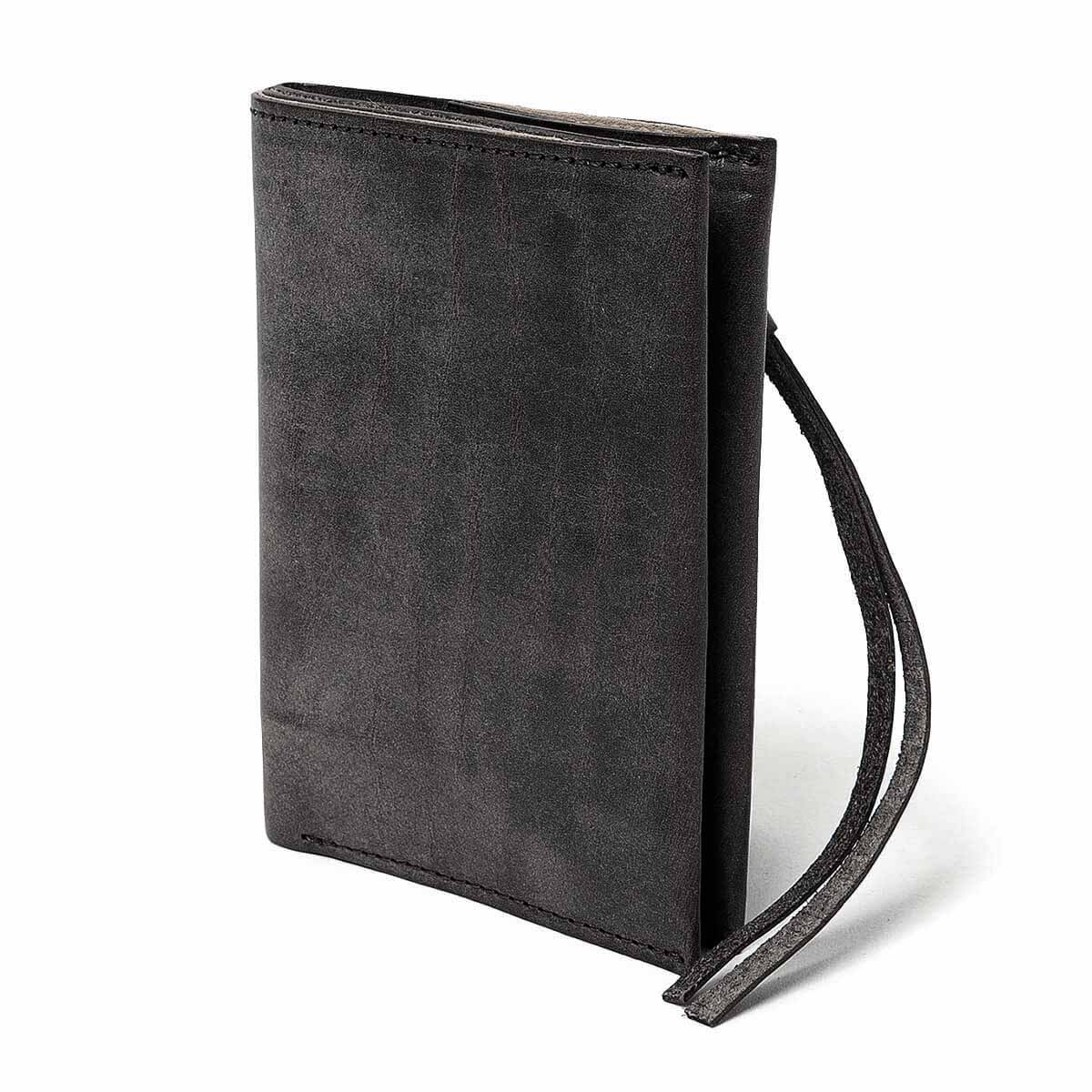 HOBO / OILED COW LEATHER BIFOLD WALLET (Black)