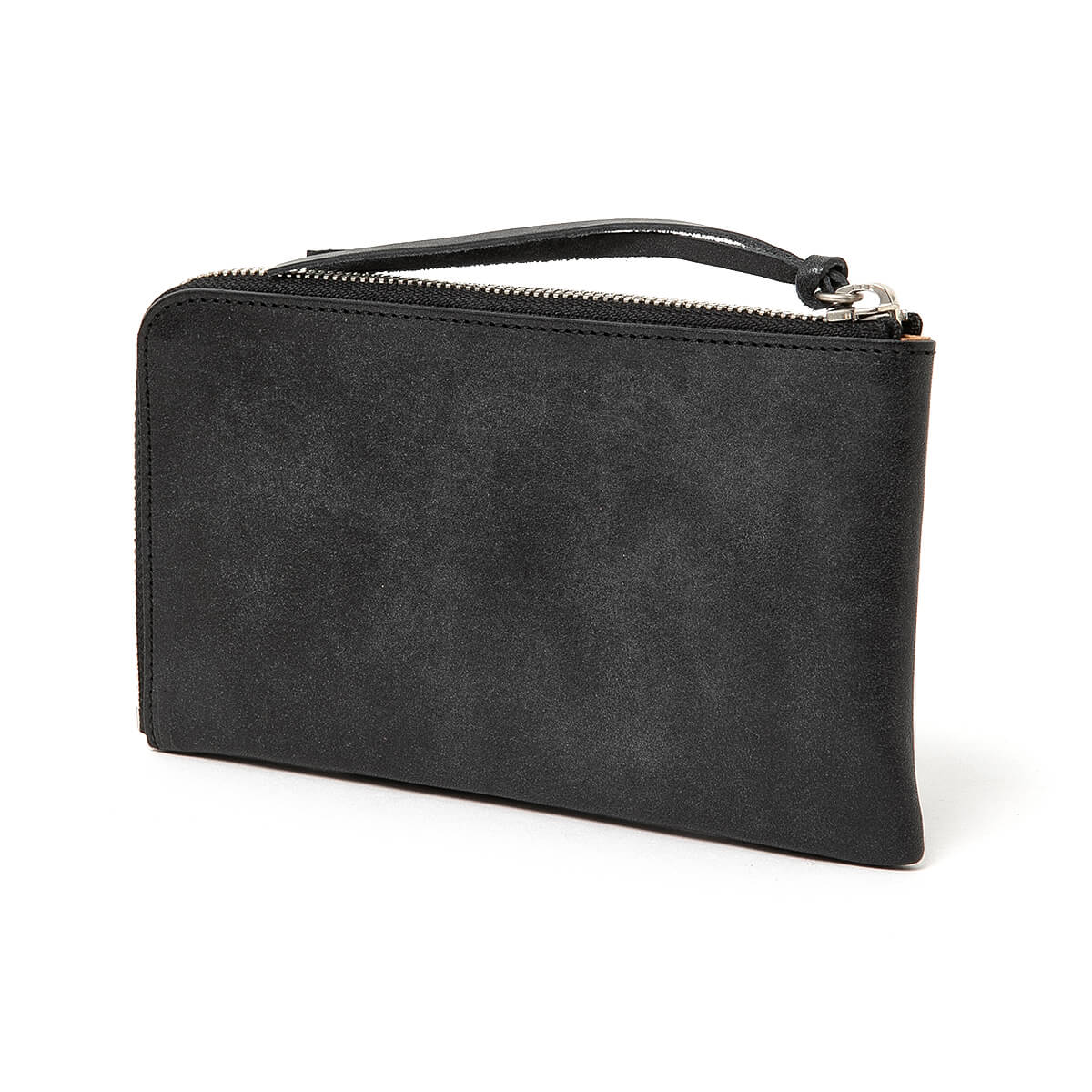 HOBO / OILED COW LEATHER LONG ZIP WALLET (Black)